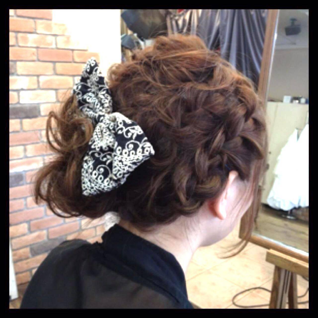 パーティ ストリート 夏 編み込みヘアスタイルや髪型の写真・画像