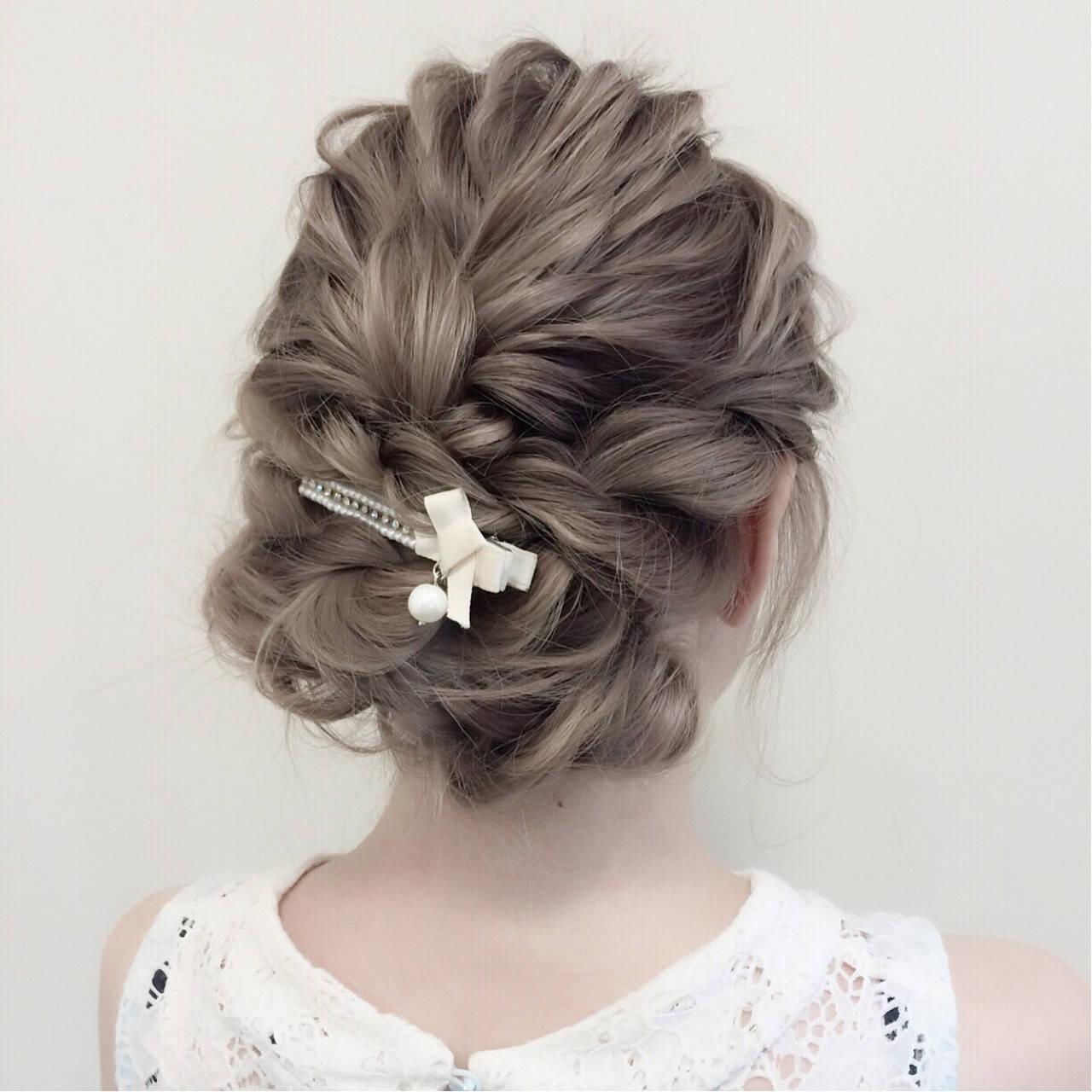 ヘアアレンジ 結婚式 ゆるふわ デートヘアスタイルや髪型の写真・画像