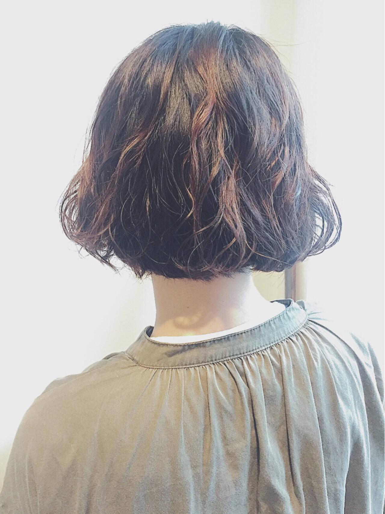 外国人風 ボブ 大人かわいい ハイライトヘアスタイルや髪型の写真・画像