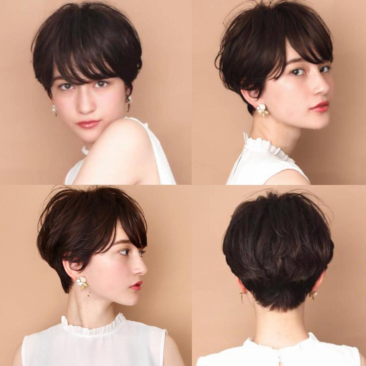 モード ベリーショート ショートボブ ショートヘアスタイルや髪型の写真・画像