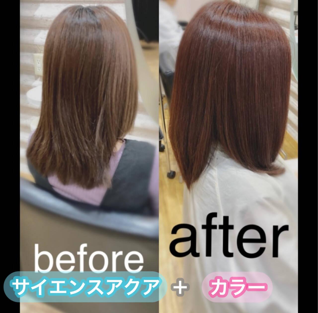 髪質改善カラー ロング ナチュラル 髪質改善トリートメントヘアスタイルや髪型の写真・画像
