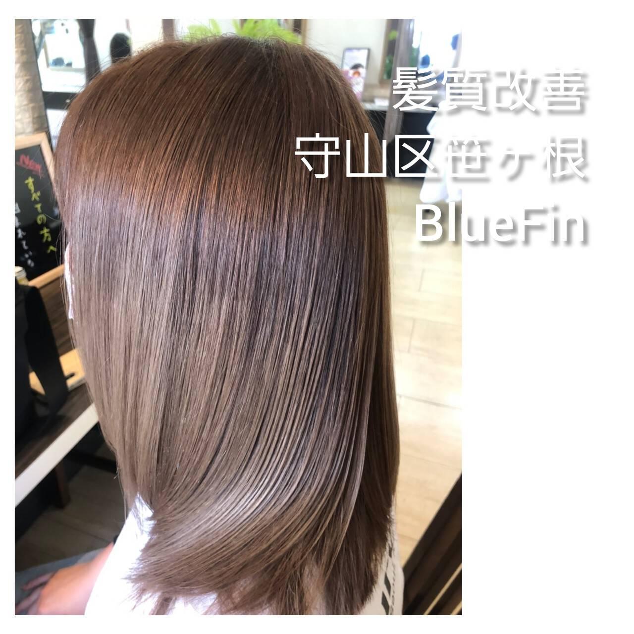 縮毛矯正 ナチュラル 名古屋市守山区 セミロングヘアスタイルや髪型の写真・画像