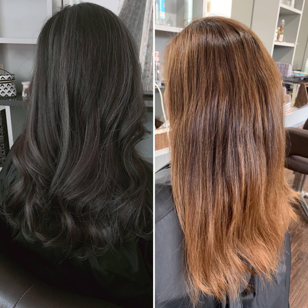 ハイライト アッシュグレージュ ブルージュ エレガントヘアスタイルや髪型の写真・画像