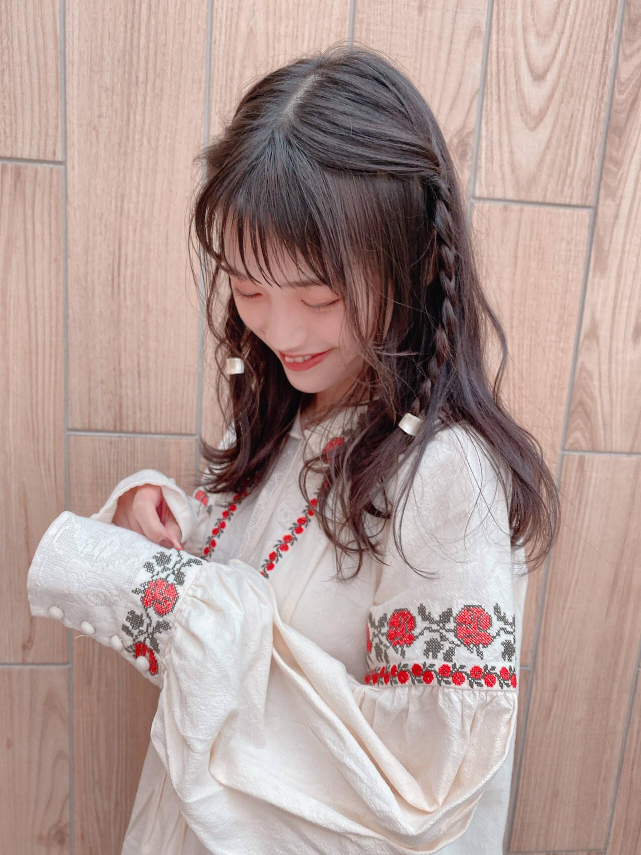 簡単ヘアアレンジ ヘアアレンジ 結婚式ヘアアレンジ 大人ロングヘアスタイルや髪型の写真・画像