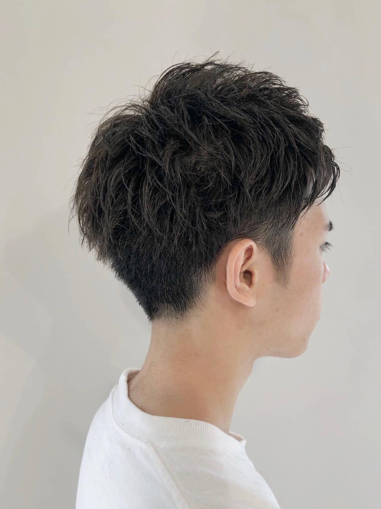 刈り上げショート メンズヘア ショート メンズヘアスタイルや髪型の写真・画像