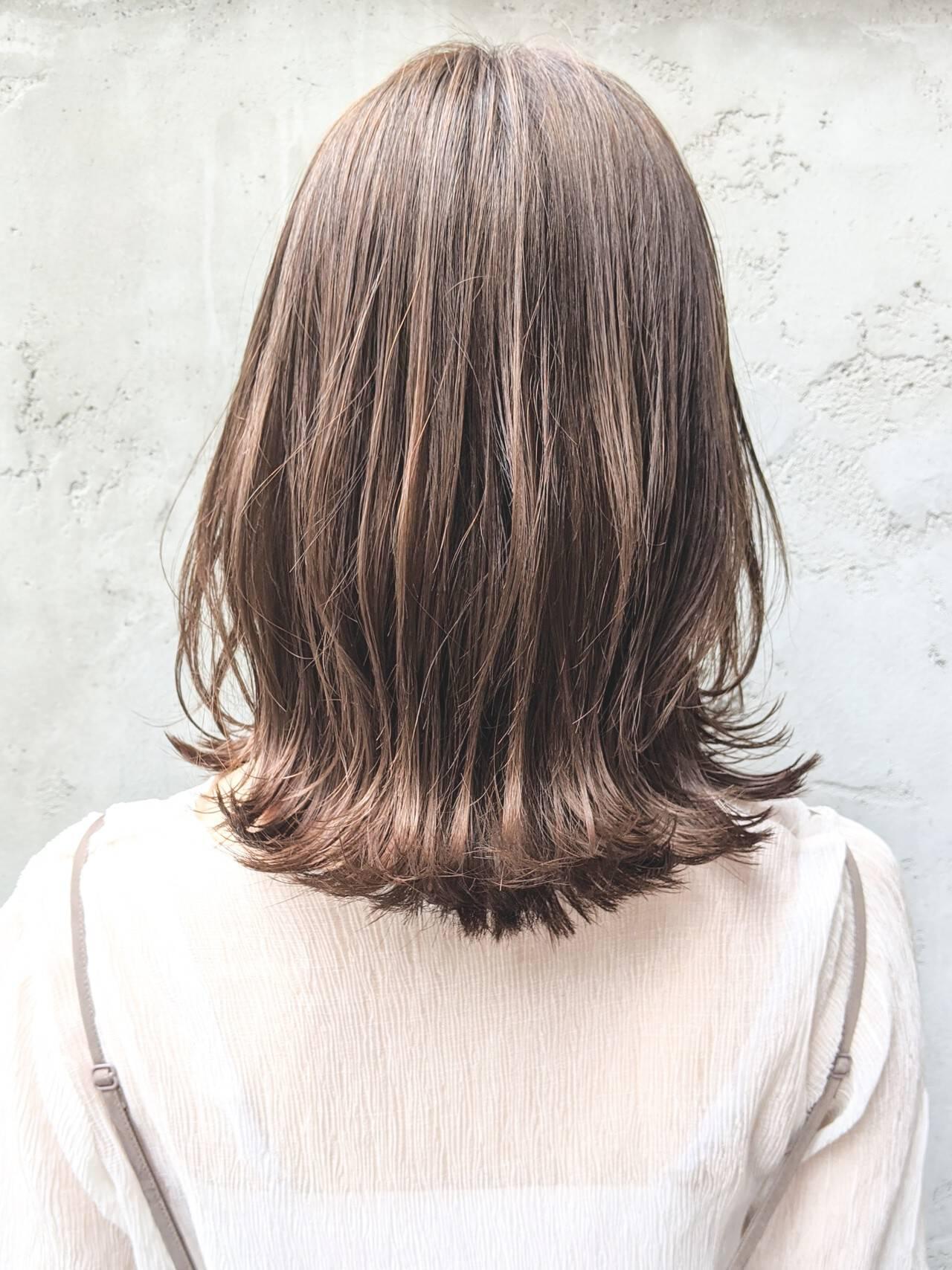 ショートヘア ロブ くびれカール コテアレンジヘアスタイルや髪型の写真・画像