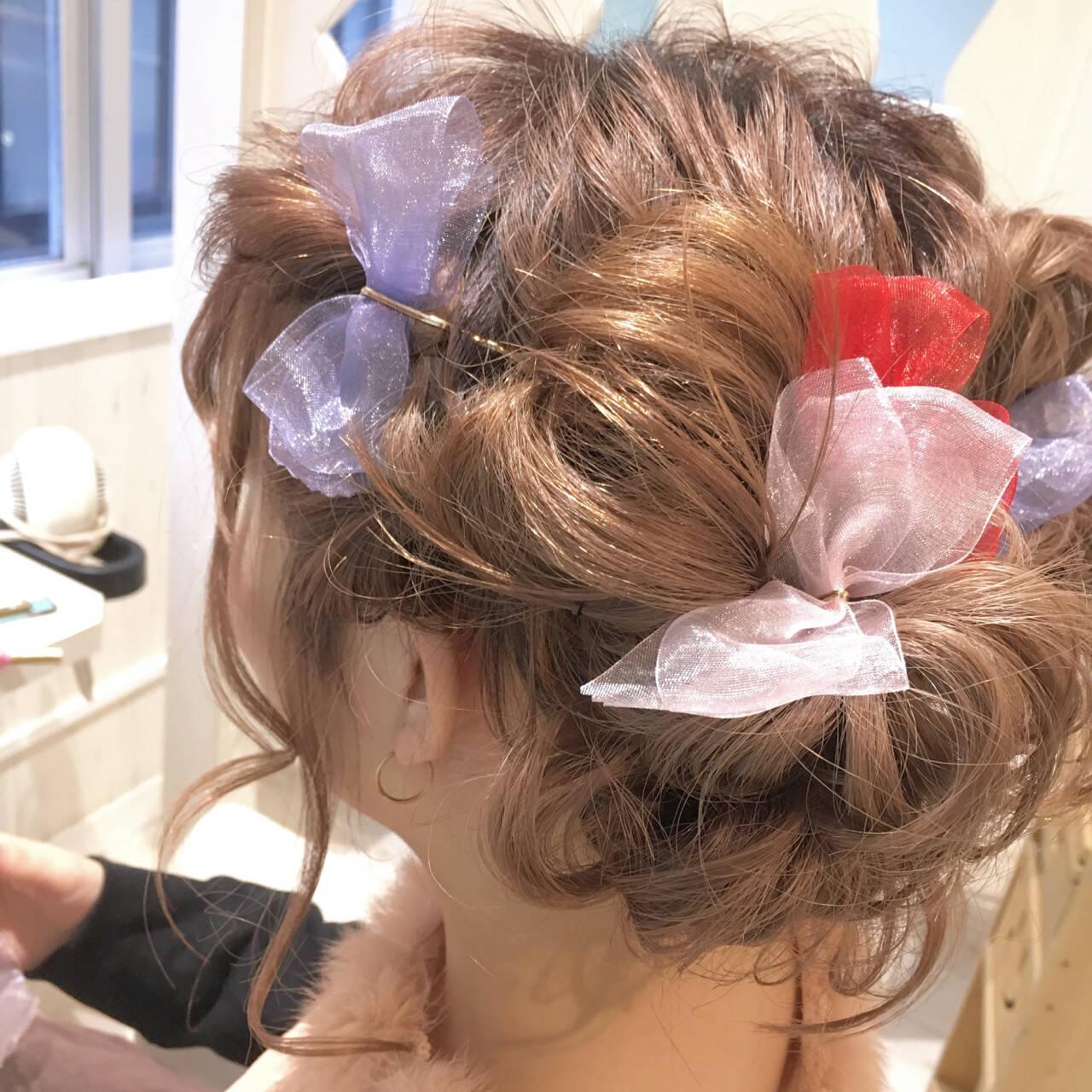 簡単ヘアアレンジ ショート 結婚式 ヘアアレンジヘアスタイルや髪型の写真・画像