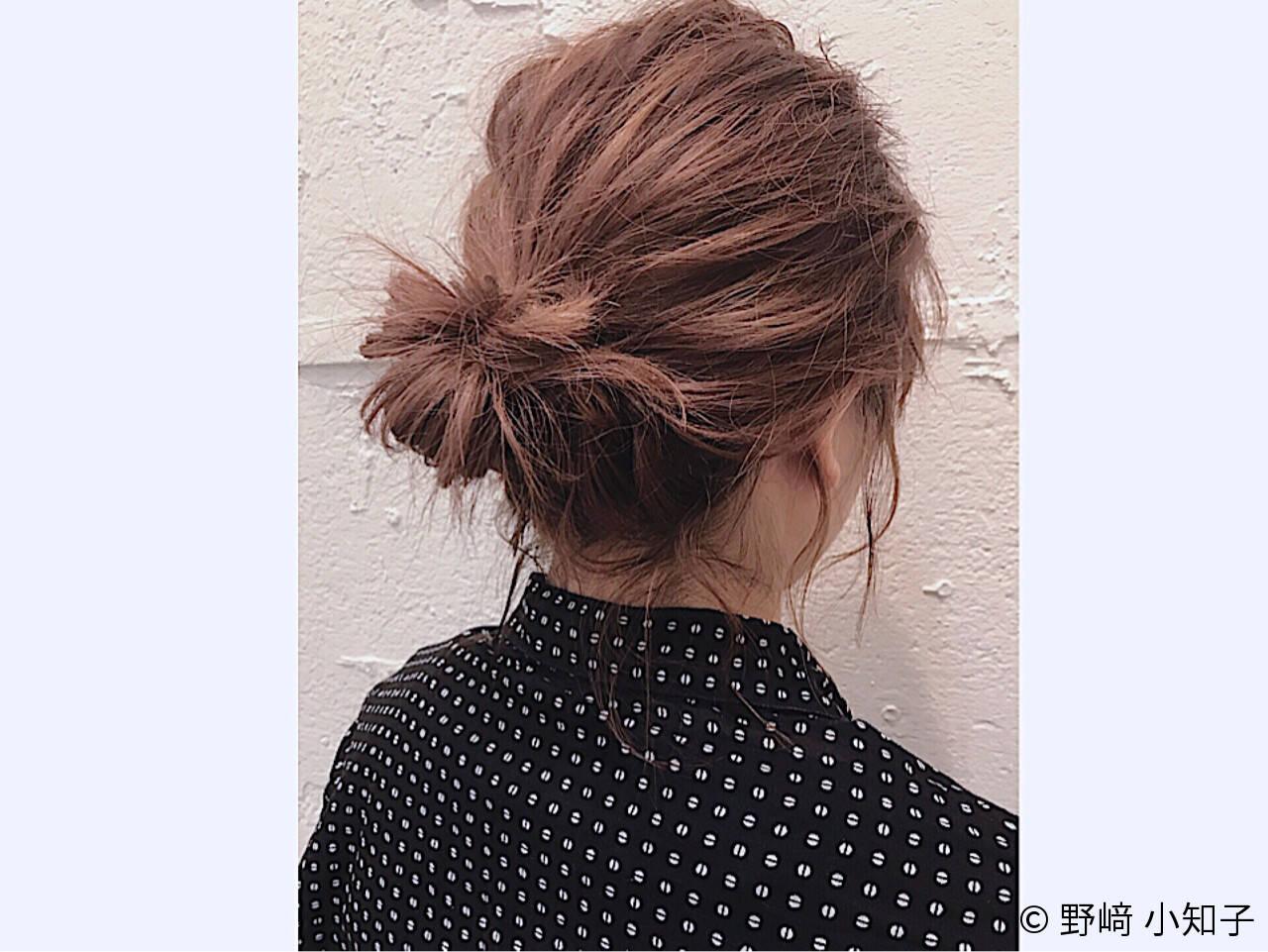 ヘアアレンジ ショート お団子 伸ばしかけヘアスタイルや髪型の写真・画像