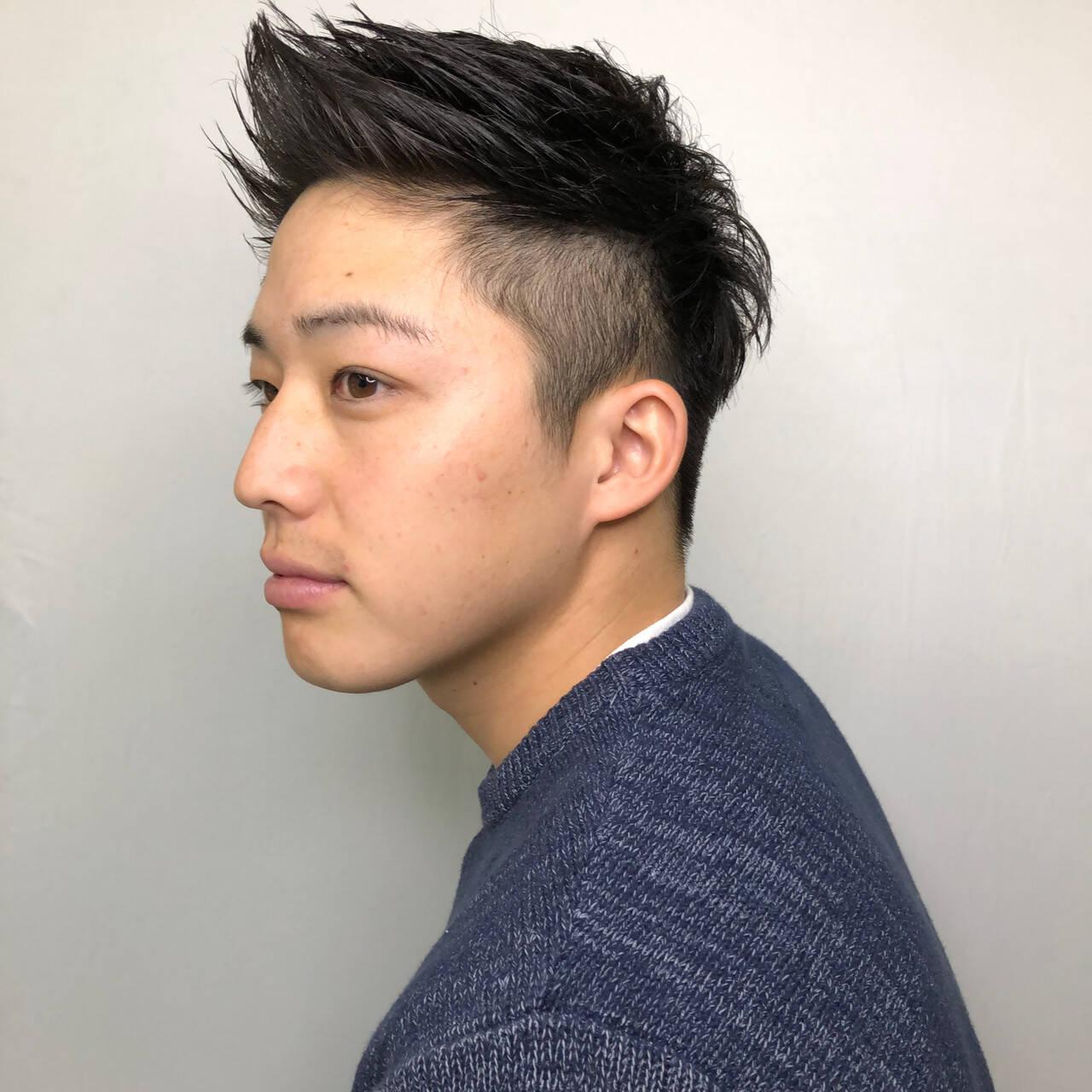 ショート メンズショート メンズヘア 刈り上げヘアスタイルや髪型の写真・画像