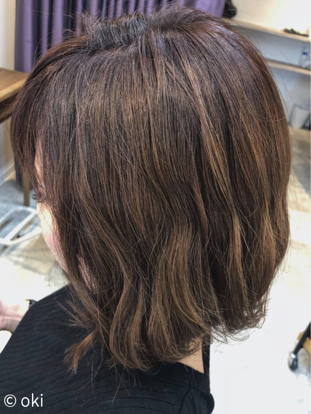 アウトドア フェミニン ボブ オフィスヘアスタイルや髪型の写真・画像