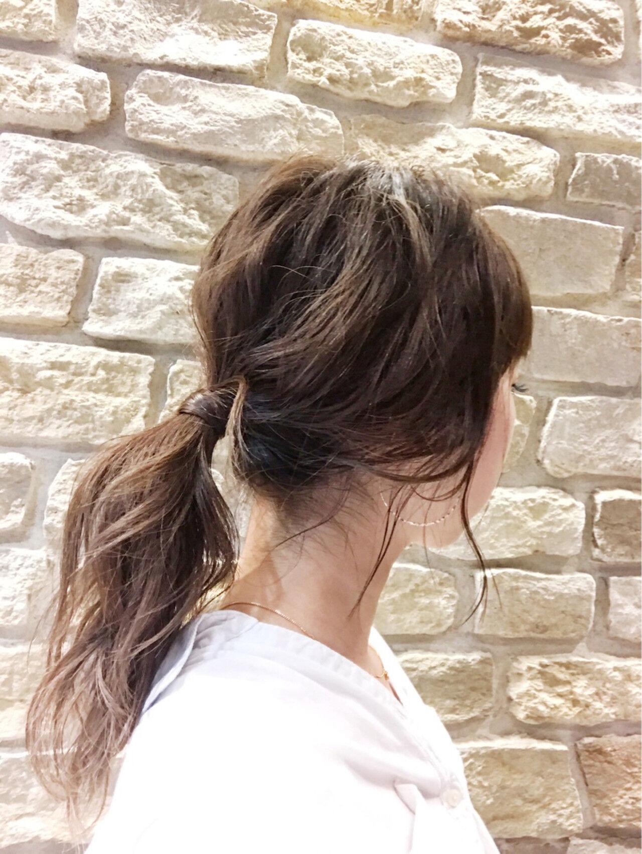 ヘアアレンジ ミディアム 簡単ヘアアレンジ 女子ウケヘアスタイルや髪型の写真・画像
