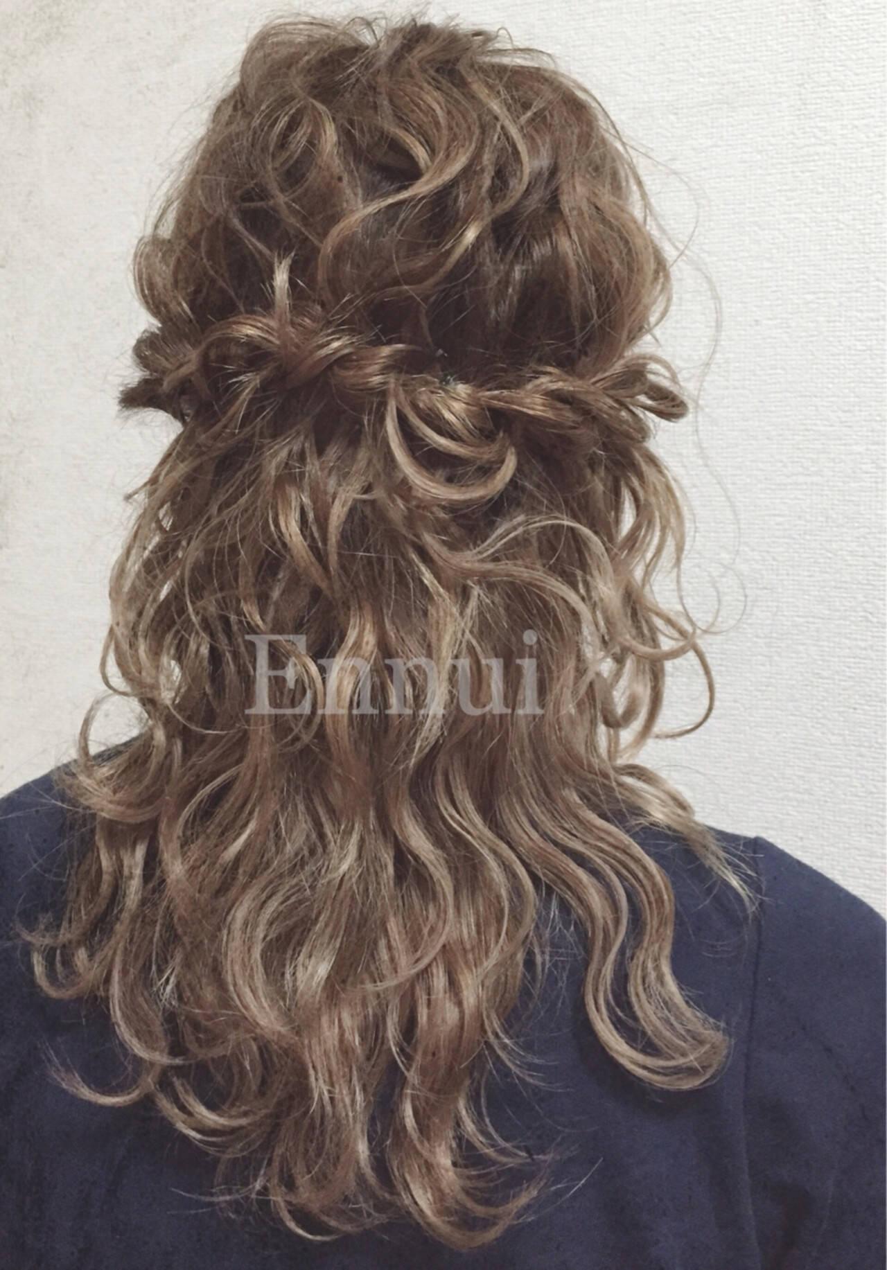 セミロング ショート 簡単ヘアアレンジ 結婚式ヘアスタイルや髪型の写真・画像