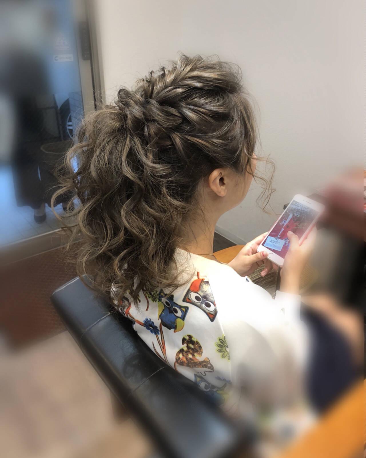 ヘアアレンジ アップスタイル フェミニン ミディアムヘアスタイルや髪型の写真・画像