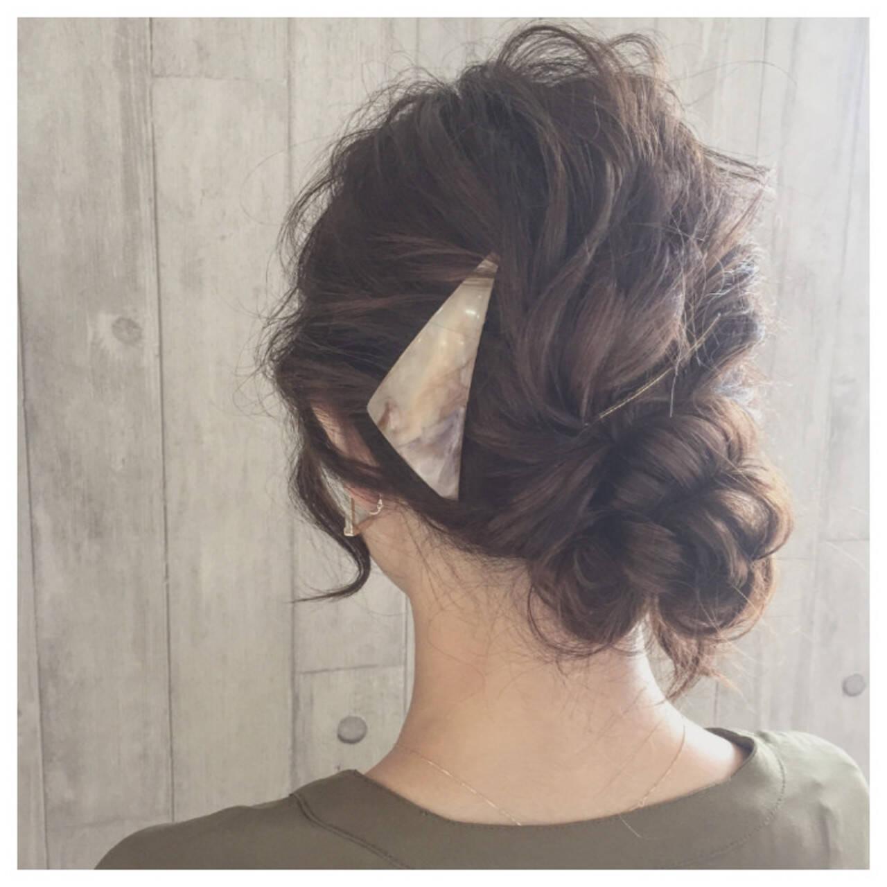 大人かわいい ロング バレッタ ヘアアレンジヘアスタイルや髪型の写真・画像