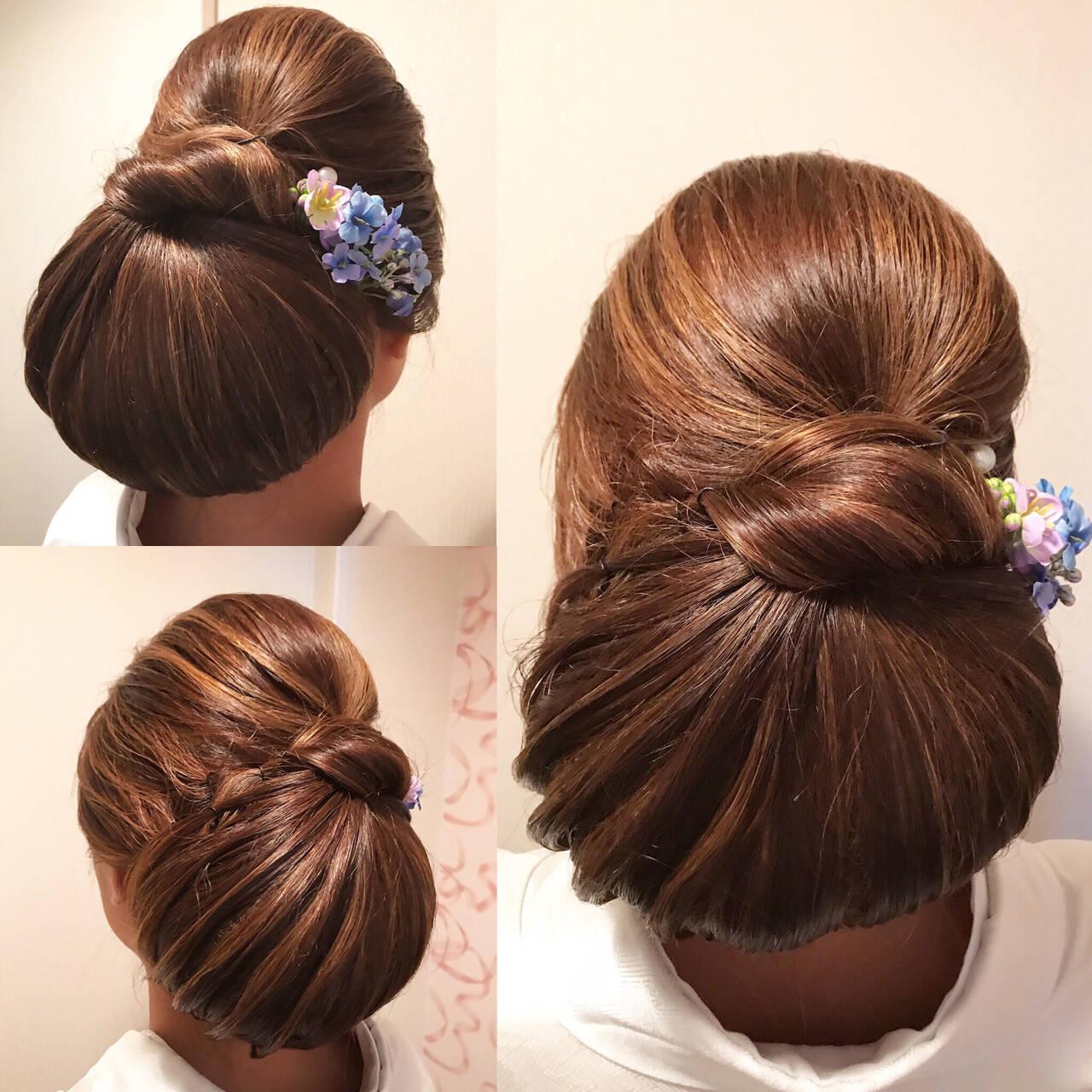 ヘアアレンジ ロング エレガント 上品ヘアスタイルや髪型の写真・画像
