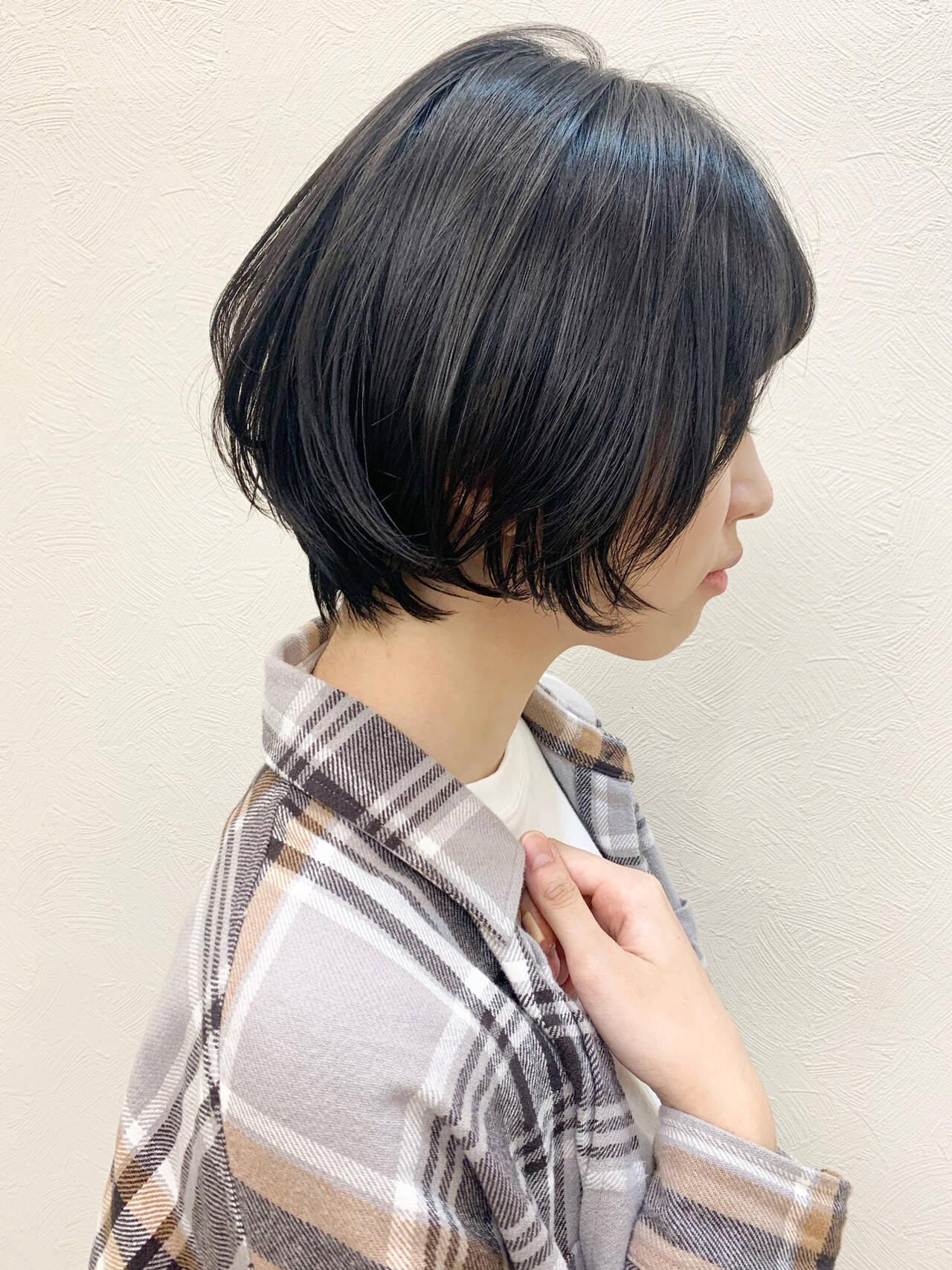 ひし形シルエット ナチュラル 大人かわいい ショートヘアスタイルや髪型の写真・画像
