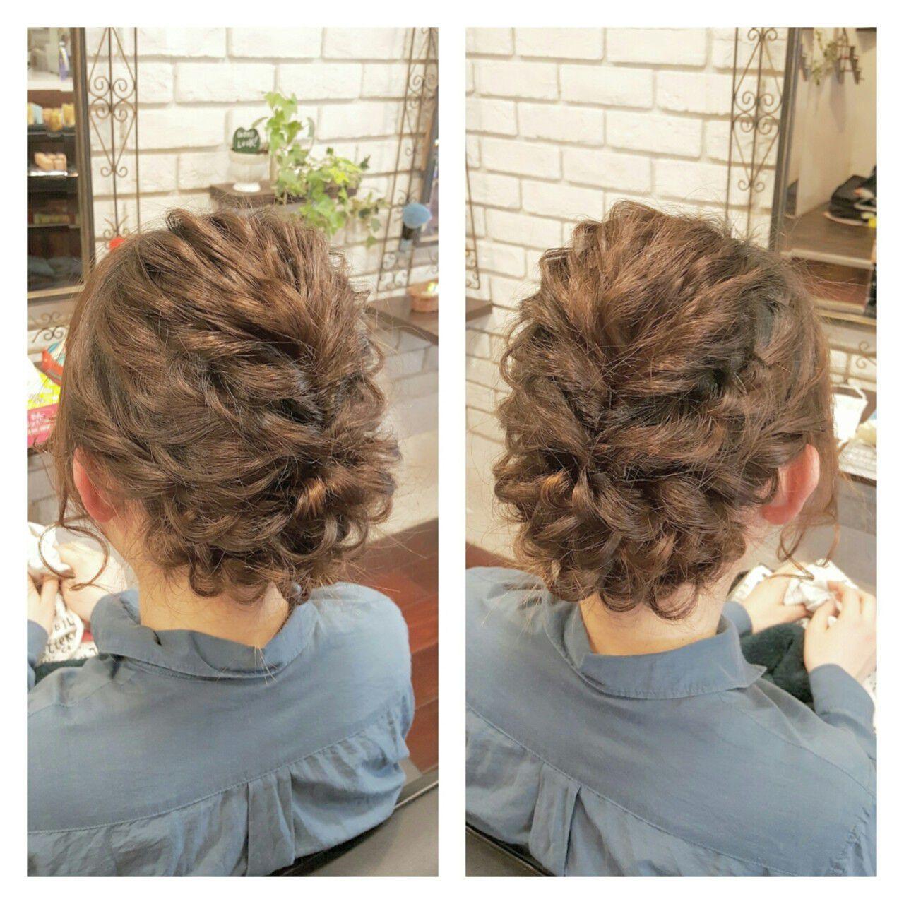 大人かわいい セミロング ナチュラル ハーフアップヘアスタイルや髪型の写真・画像
