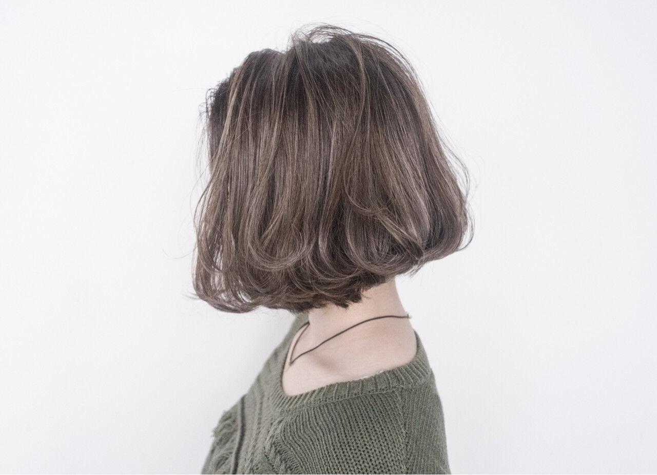 外国人風 ボブ 大人かわいい ストリートヘアスタイルや髪型の写真・画像
