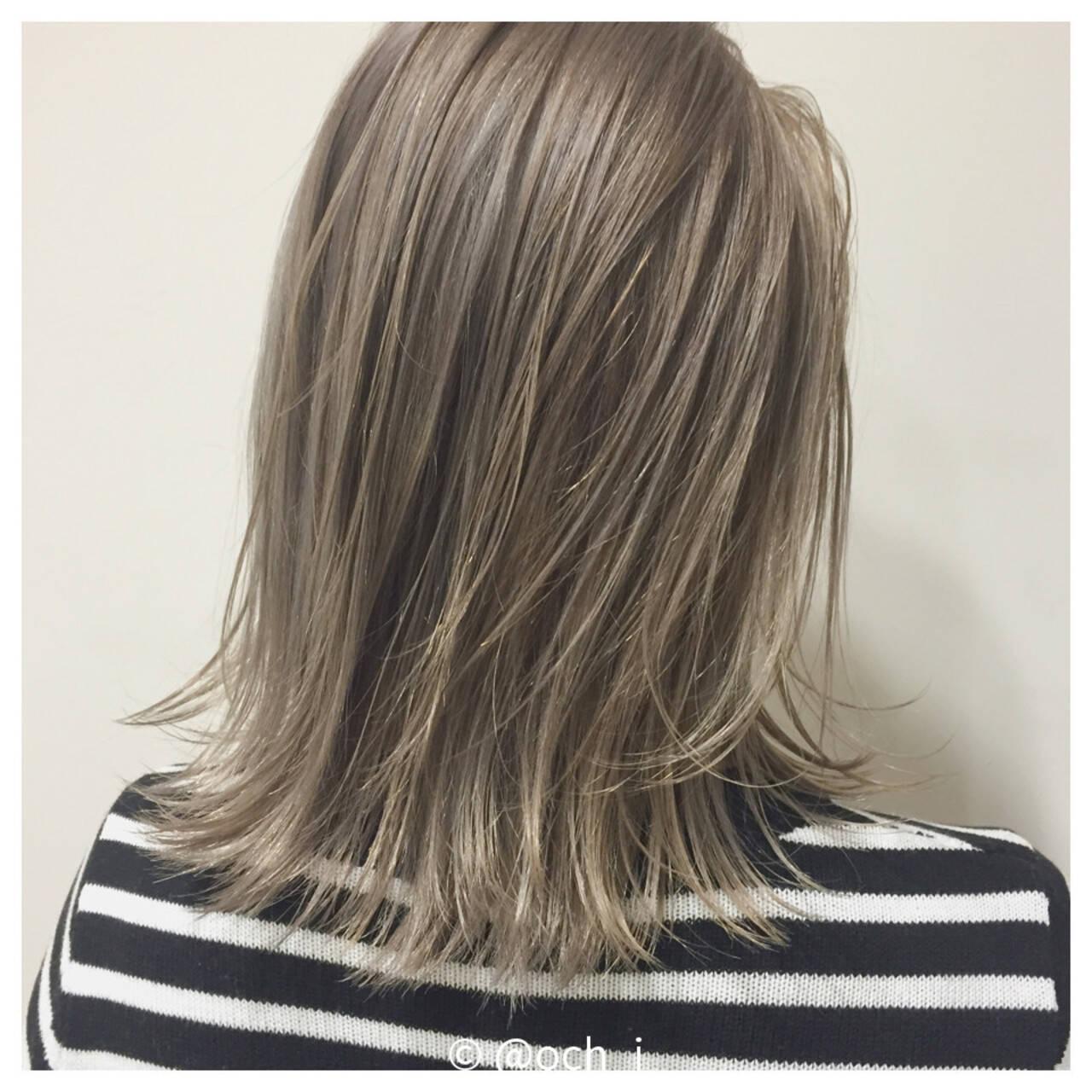 ハイライト ボブ グラデーションカラー ダブルカラーヘアスタイルや髪型の写真・画像