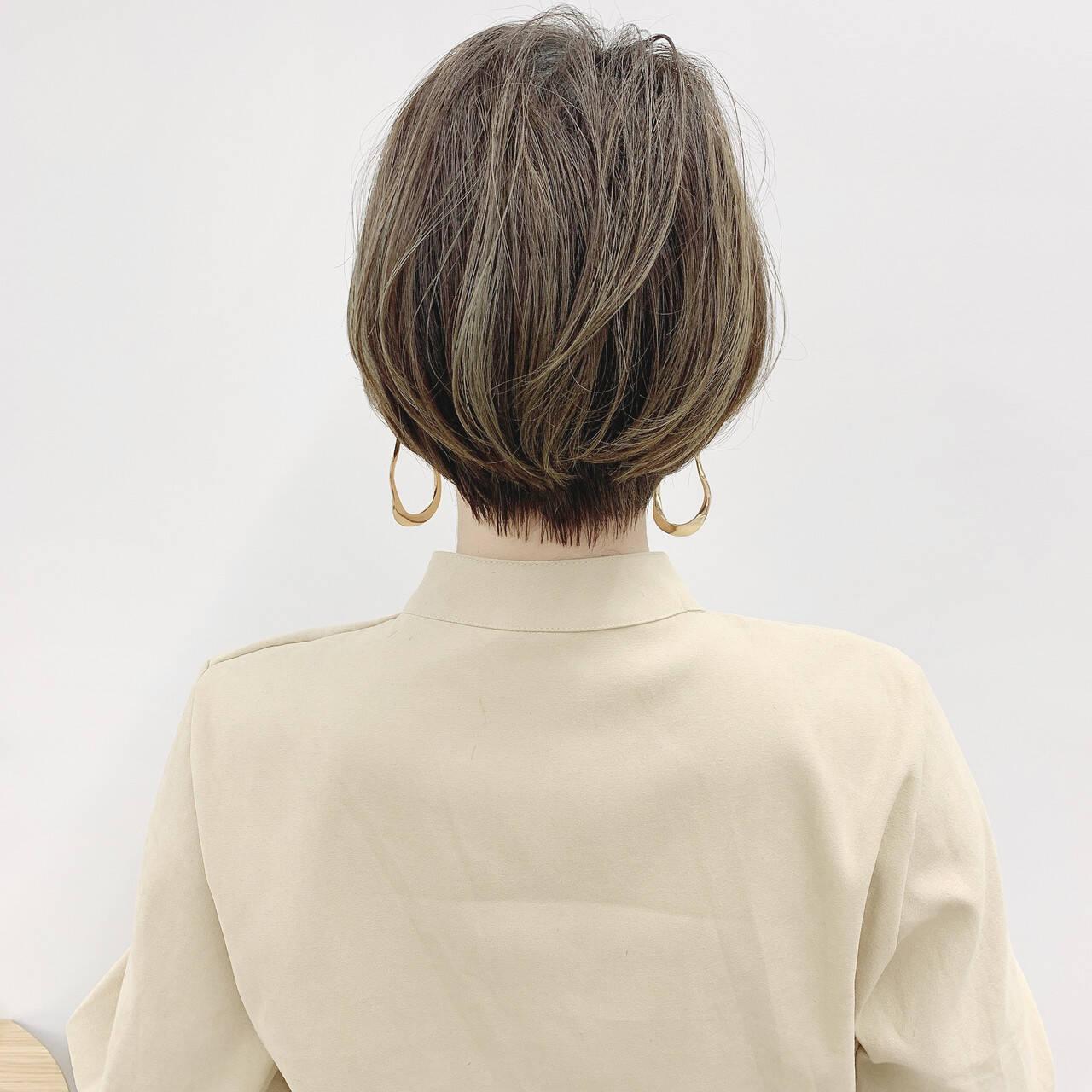 ナチュラル ショートヘア ショートボブ ショートヘアスタイルや髪型の写真・画像