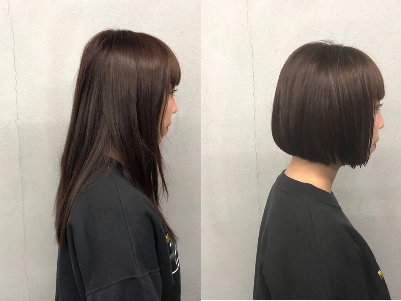 簡単 ナチュラル 艶髪 ストレートヘアスタイルや髪型の写真・画像