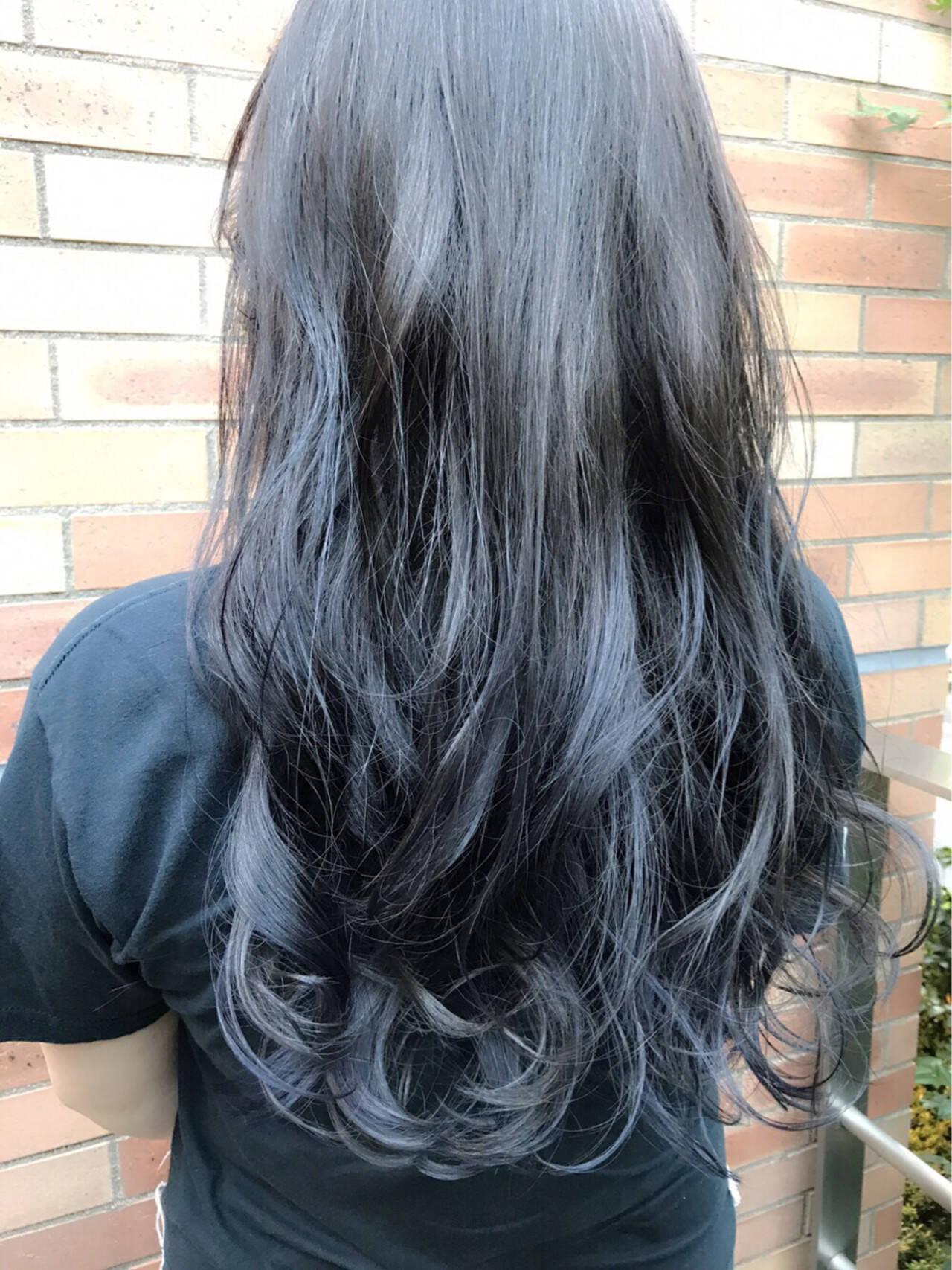 グラデーションカラー ブルージュ アンニュイ フェミニンヘアスタイルや髪型の写真・画像