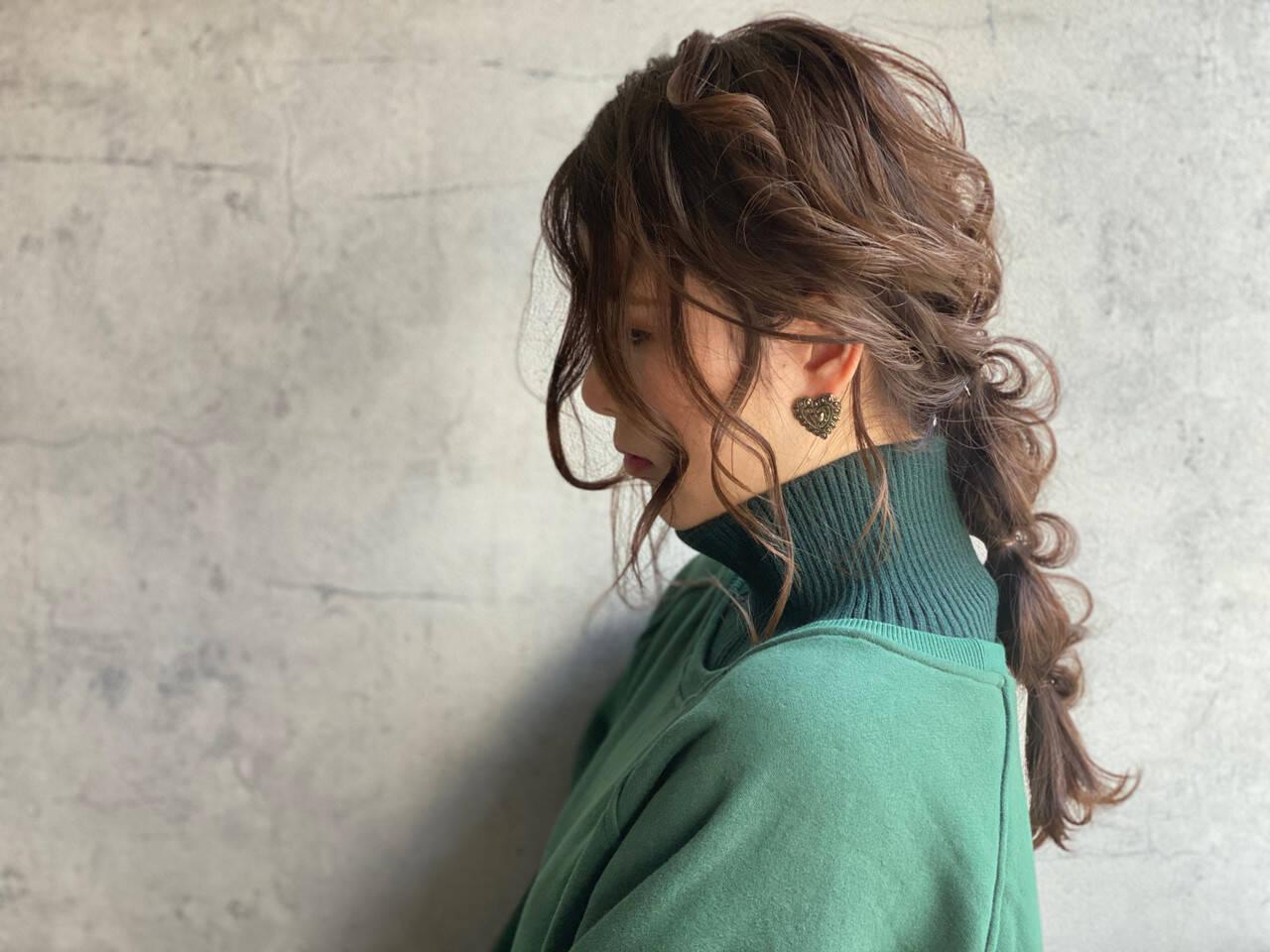 ふわふわヘアアレンジ 結婚式ヘアアレンジ ガーリー ヘアメイクヘアスタイルや髪型の写真・画像
