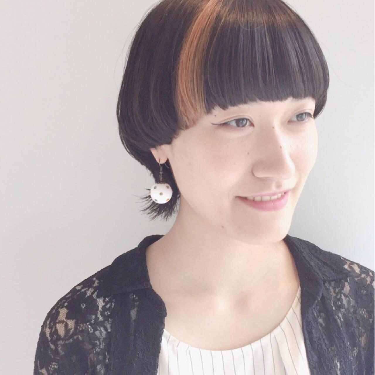 ショート モード マッシュ ウルフカットヘアスタイルや髪型の写真・画像