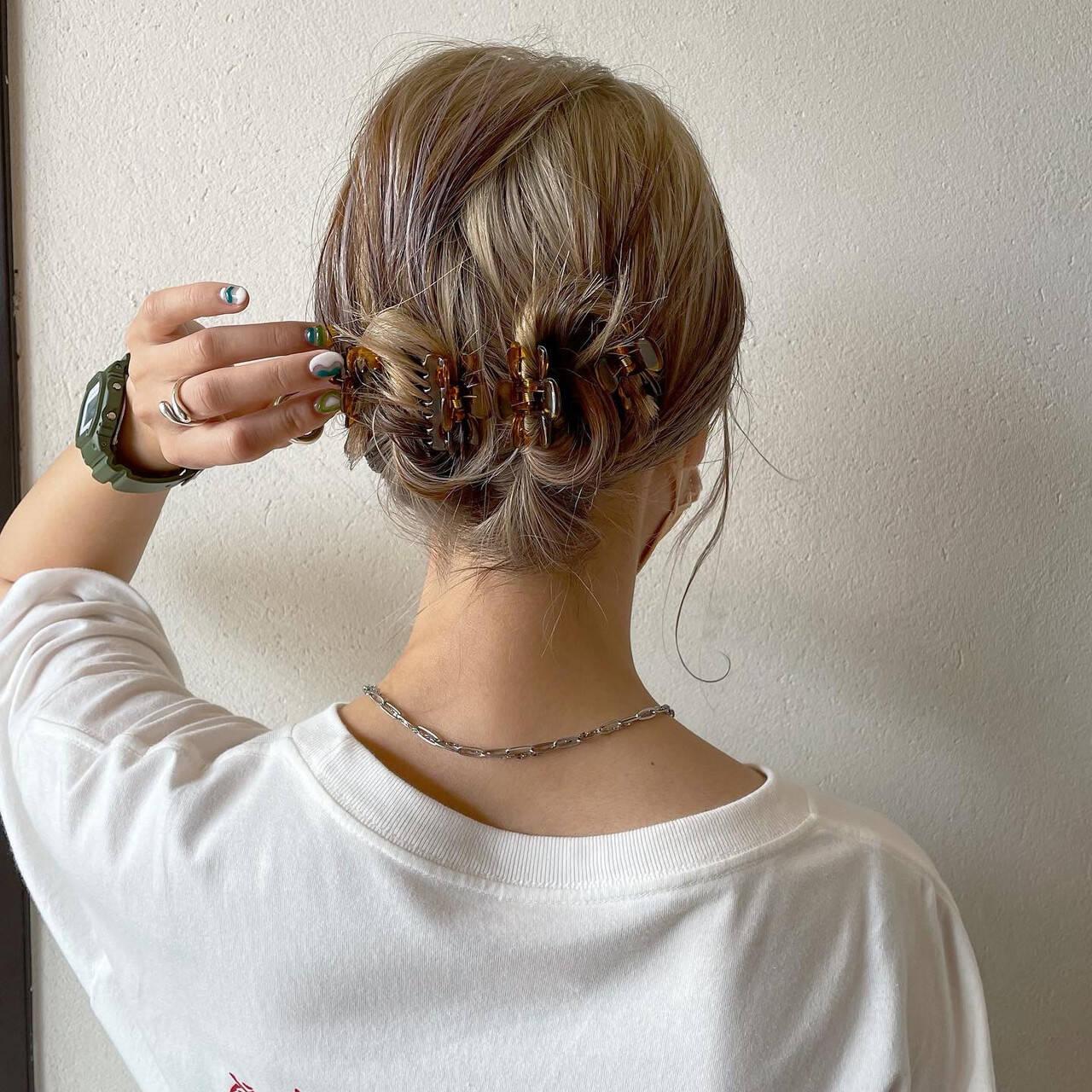 ヘアアレンジ 簡単スタイリング ストリート 簡単ヘアアレンジヘアスタイルや髪型の写真・画像