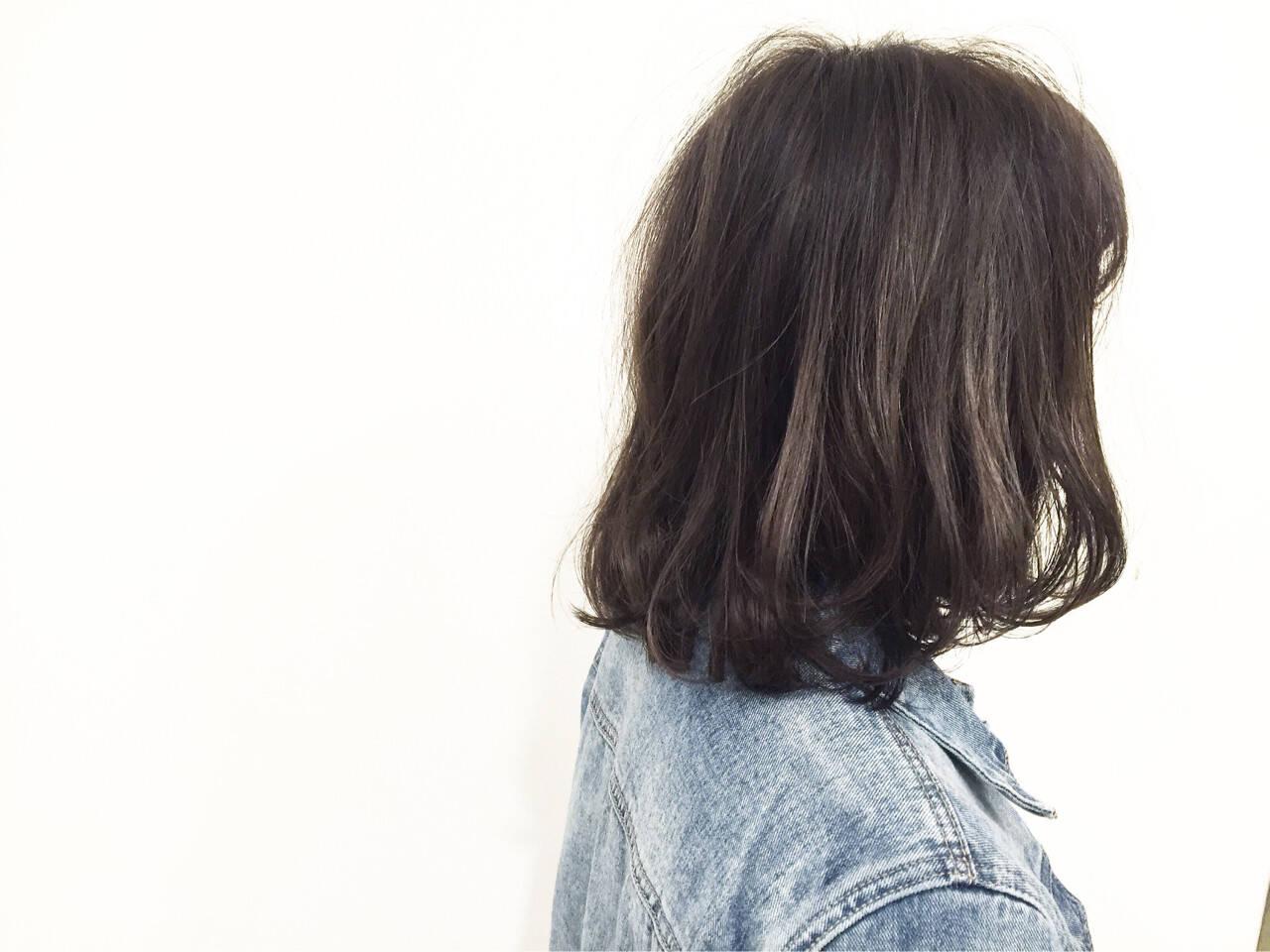 ボブ ストレート ストリート マルサラヘアスタイルや髪型の写真・画像
