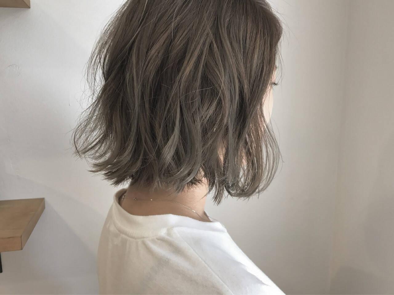 ナチュラル 透明感 切りっぱなし 秋ヘアスタイルや髪型の写真・画像