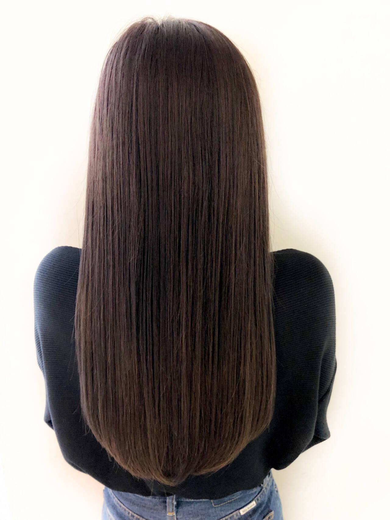 デート オフィス ロング ナチュラルヘアスタイルや髪型の写真・画像