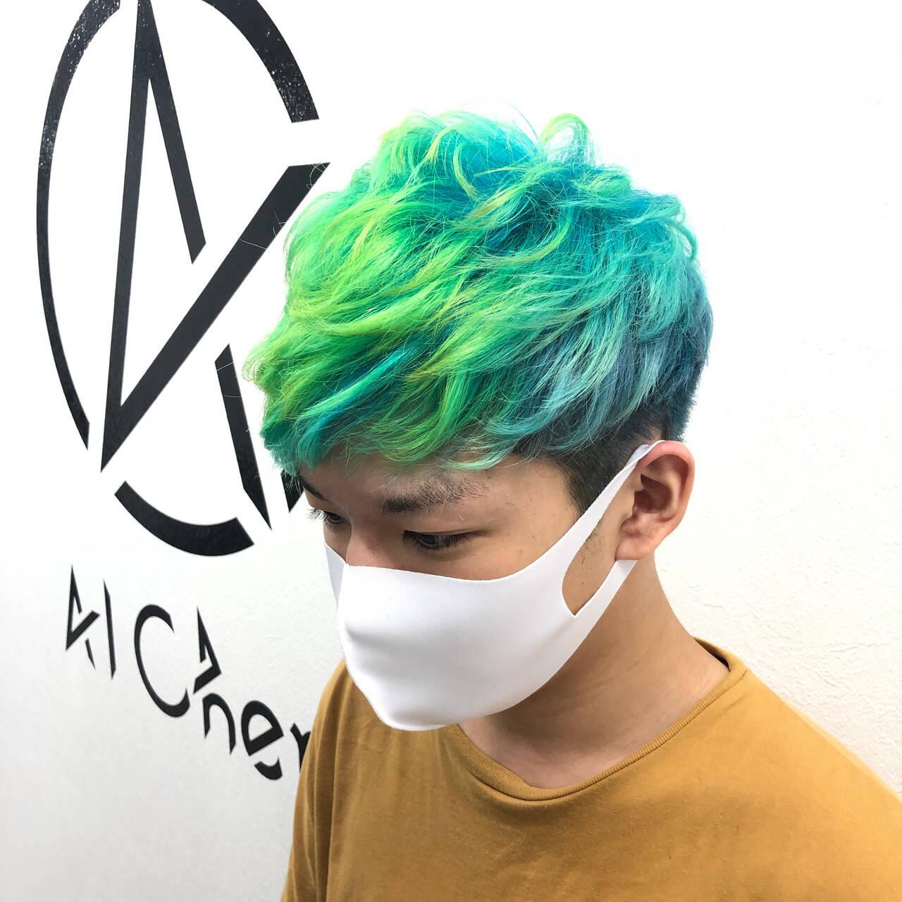 ホワイトブリーチ ブリーチ ストリート ブリーチオンカラーヘアスタイルや髪型の写真・画像