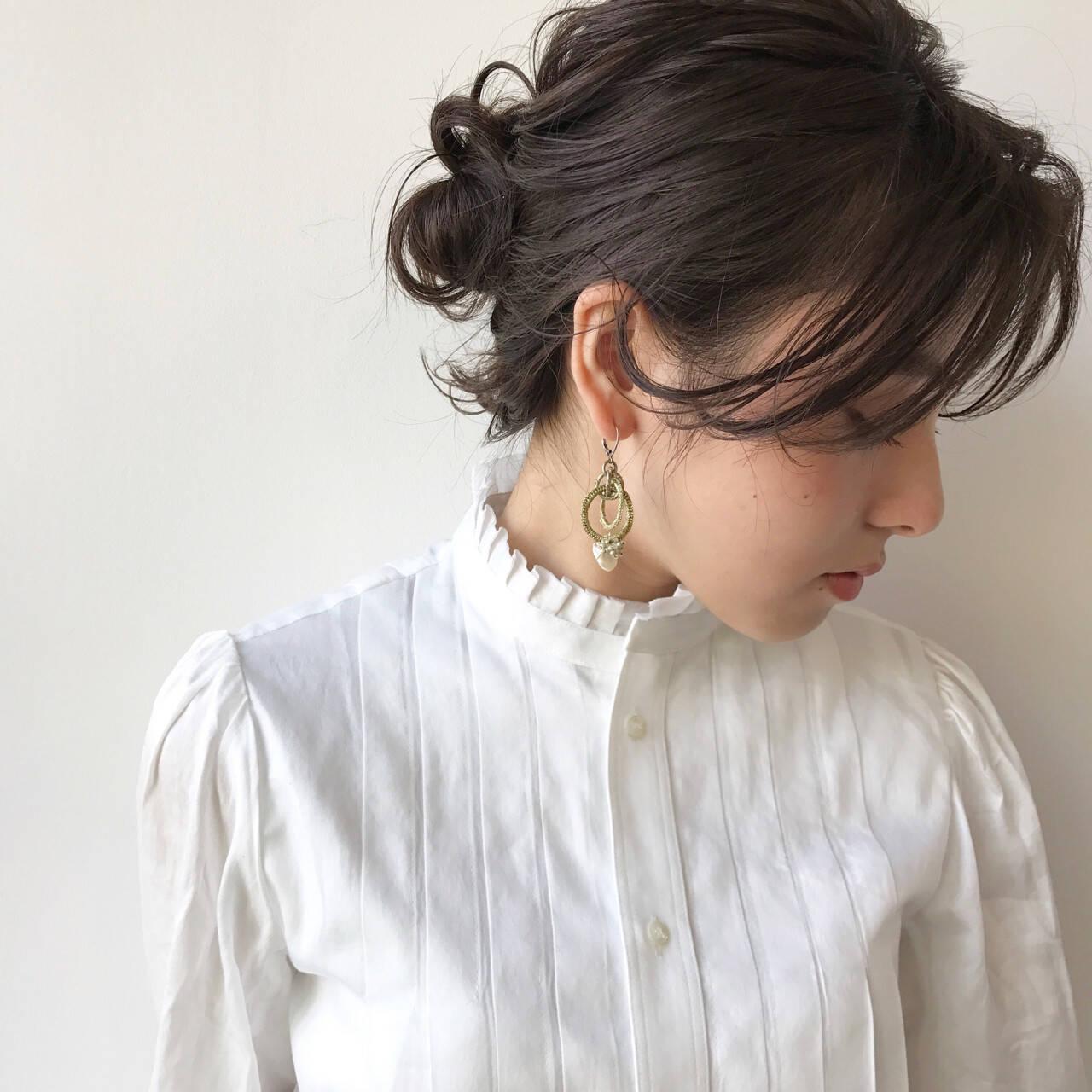 女子会 結婚式 秋 ヘアアレンジヘアスタイルや髪型の写真・画像