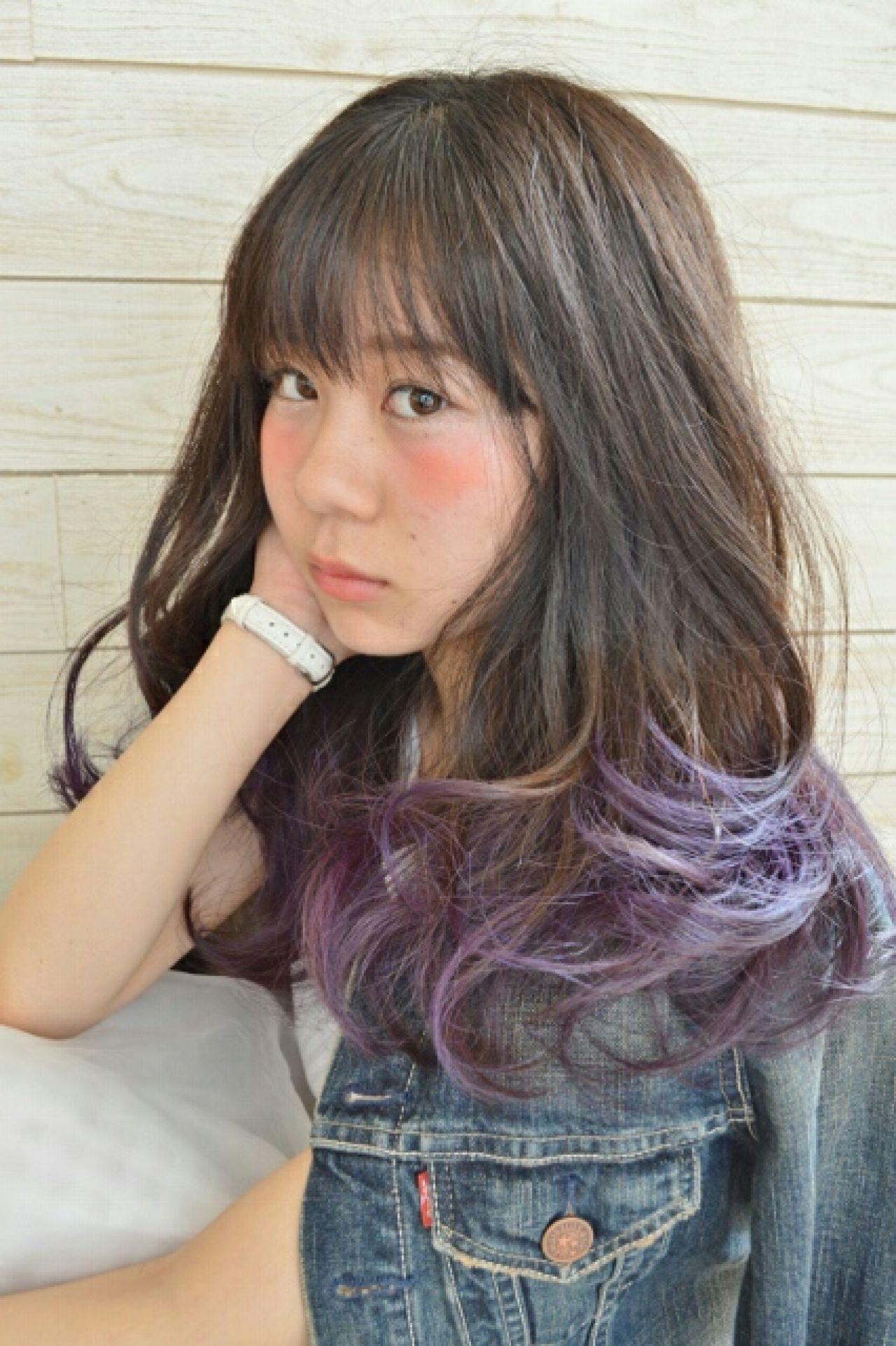 大人かわいい 外国人風 ゆるふわ グラデーションカラーヘアスタイルや髪型の写真・画像