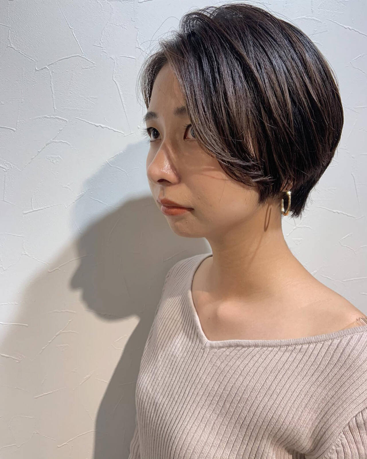 マッシュショート ショートボブ ハンサムショート ショートヘアスタイルや髪型の写真・画像