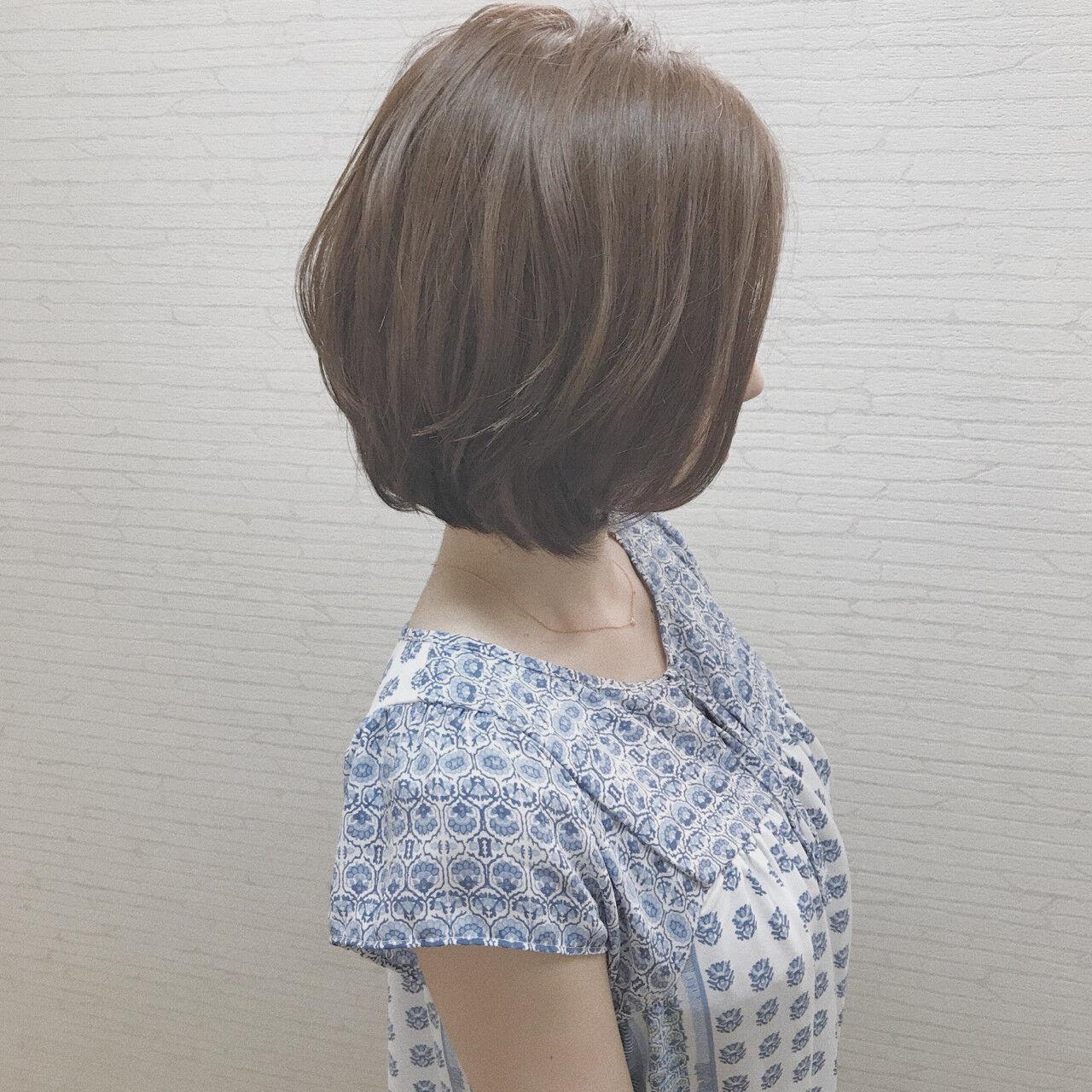小顔 色気 ショートボブ ボブヘアスタイルや髪型の写真・画像
