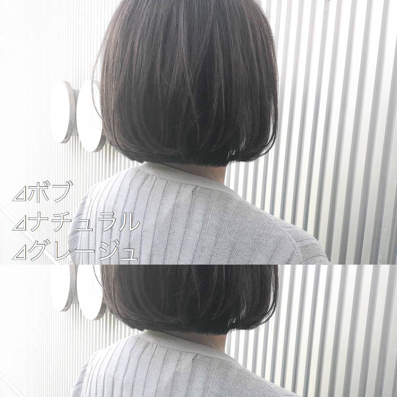 前髪 グレージュ ショート アッシュグレージュヘアスタイルや髪型の写真・画像