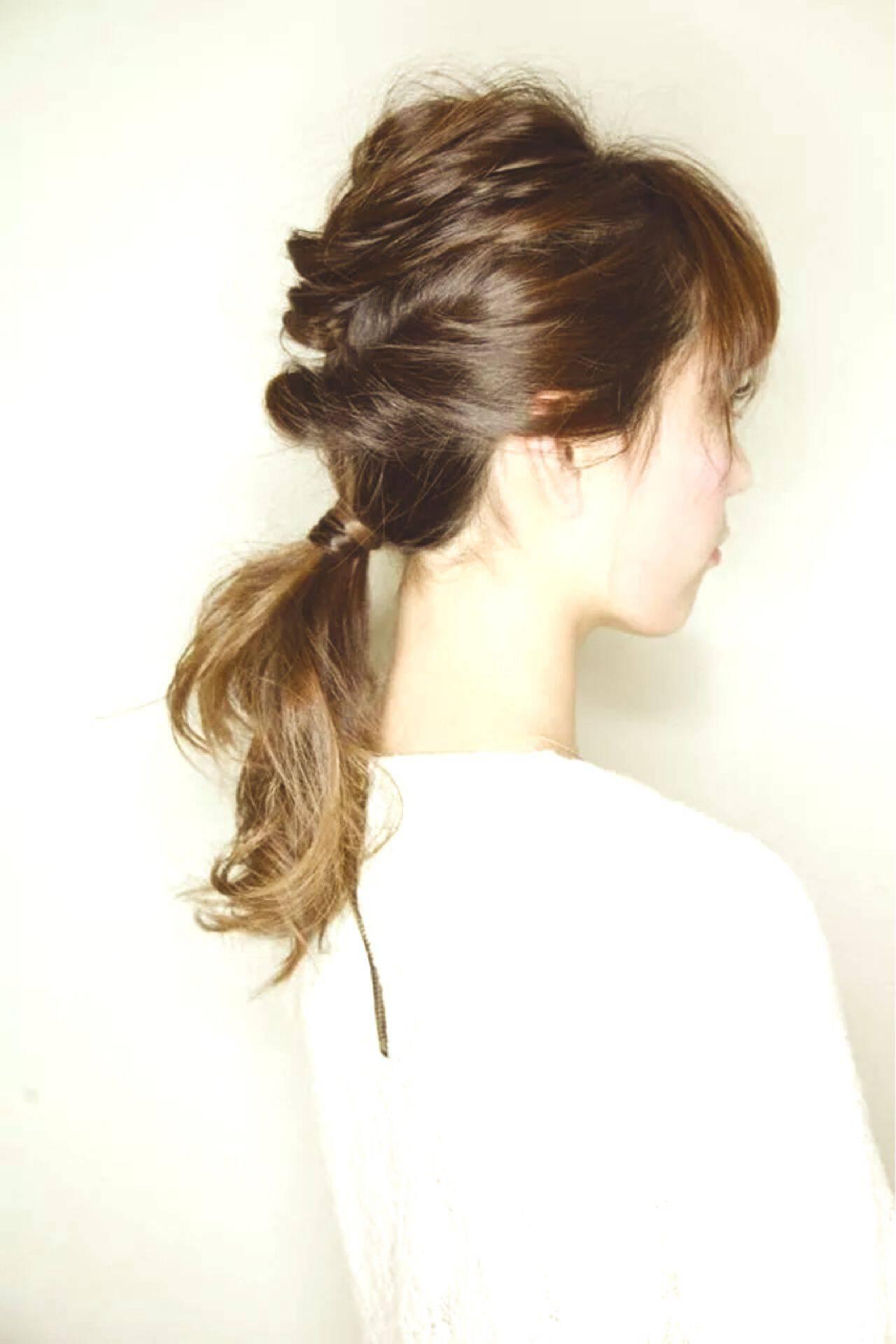 三つ編み グラデーションカラー セミロング ストリートヘアスタイルや髪型の写真・画像