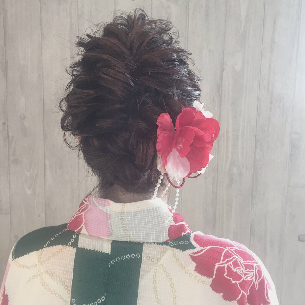 花火大会 夏 ガーリー 涼しげヘアスタイルや髪型の写真・画像