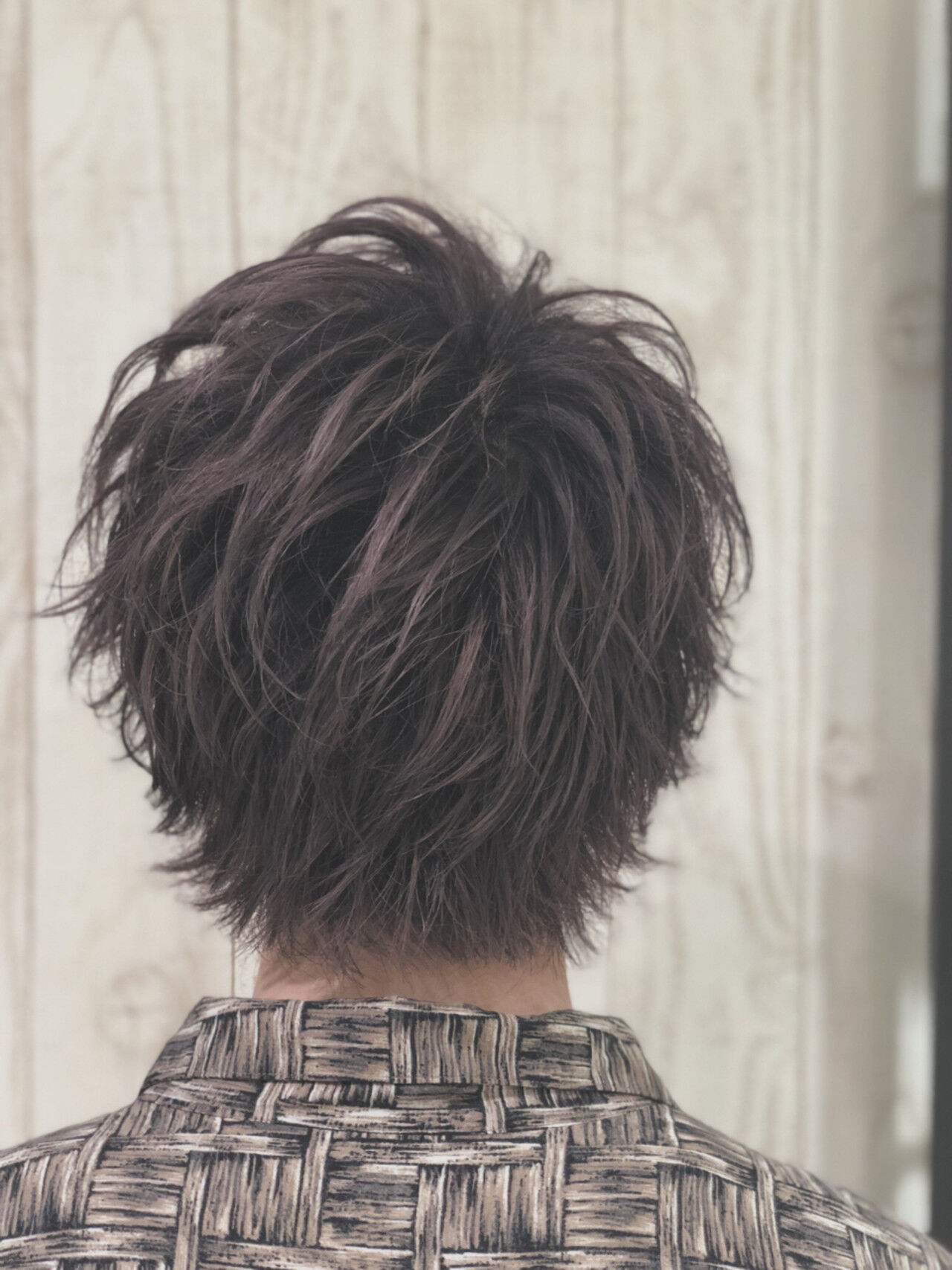 暗髪 グレージュ 透明感 ピンクヘアスタイルや髪型の写真・画像