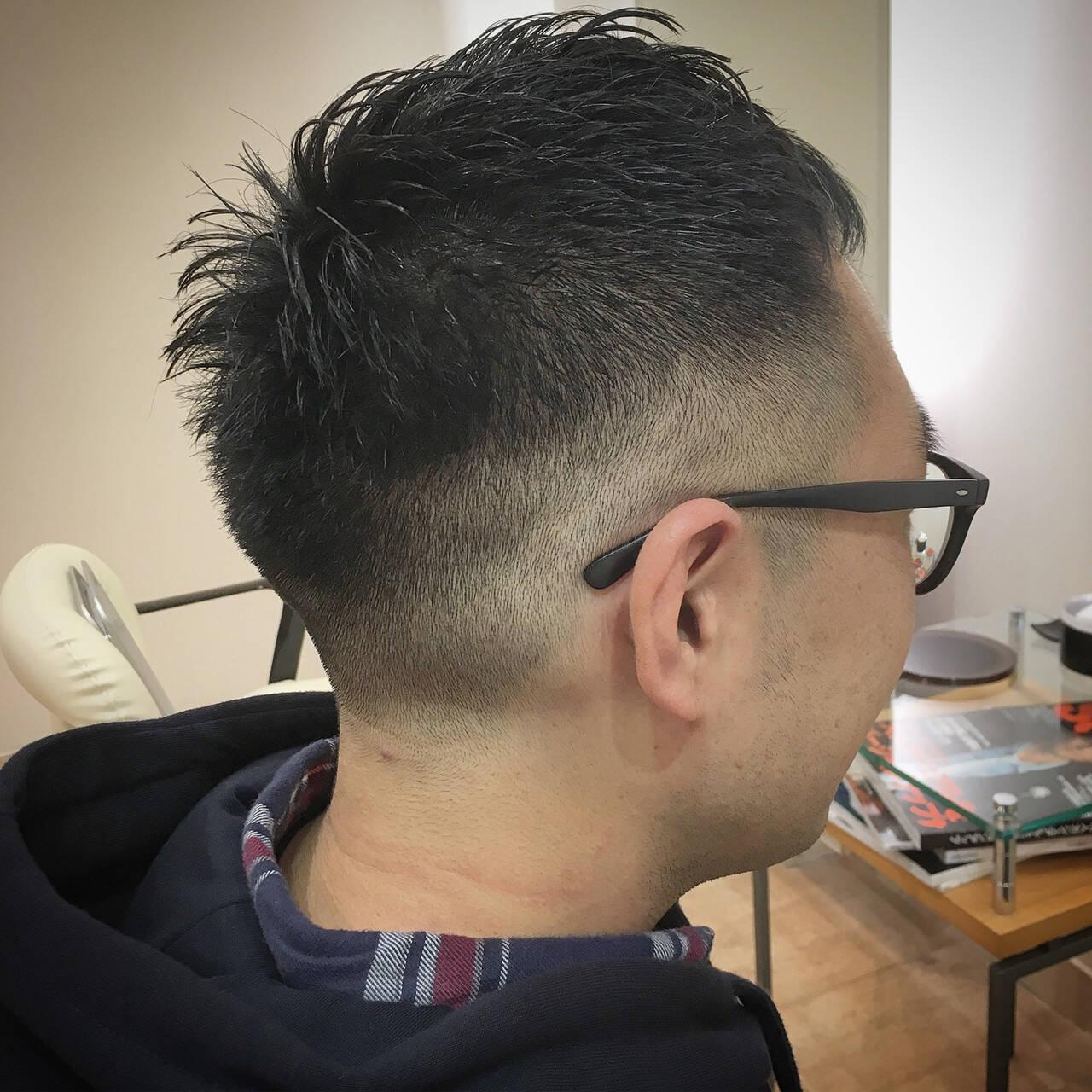 メンズ スキンフェード 刈り上げ ショートヘアスタイルや髪型の写真・画像
