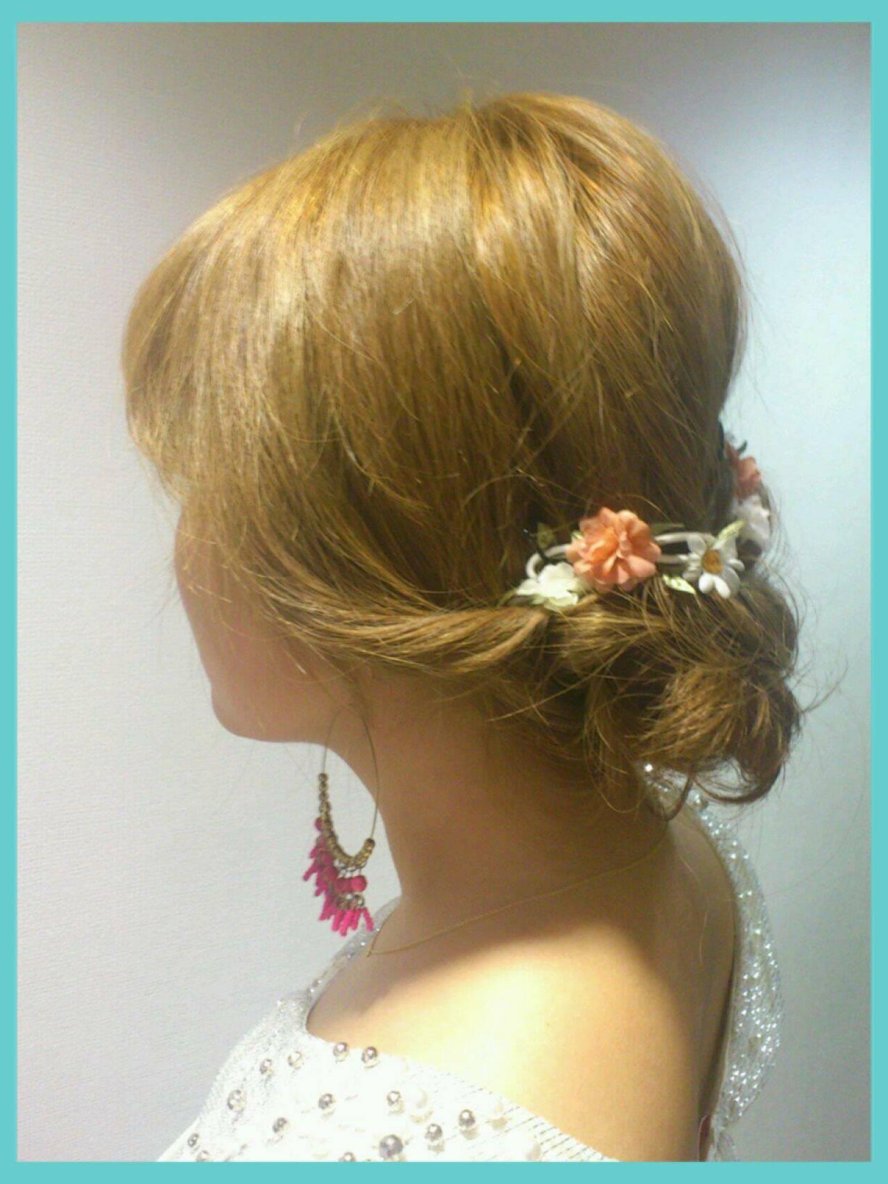 モテ髪 愛され 簡単ヘアアレンジ 結婚式ヘアスタイルや髪型の写真・画像