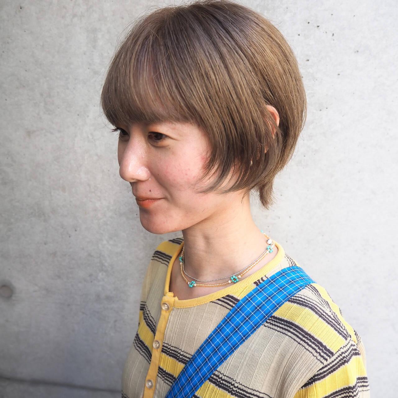 ショート デート マッシュウルフ ショートボブヘアスタイルや髪型の写真・画像