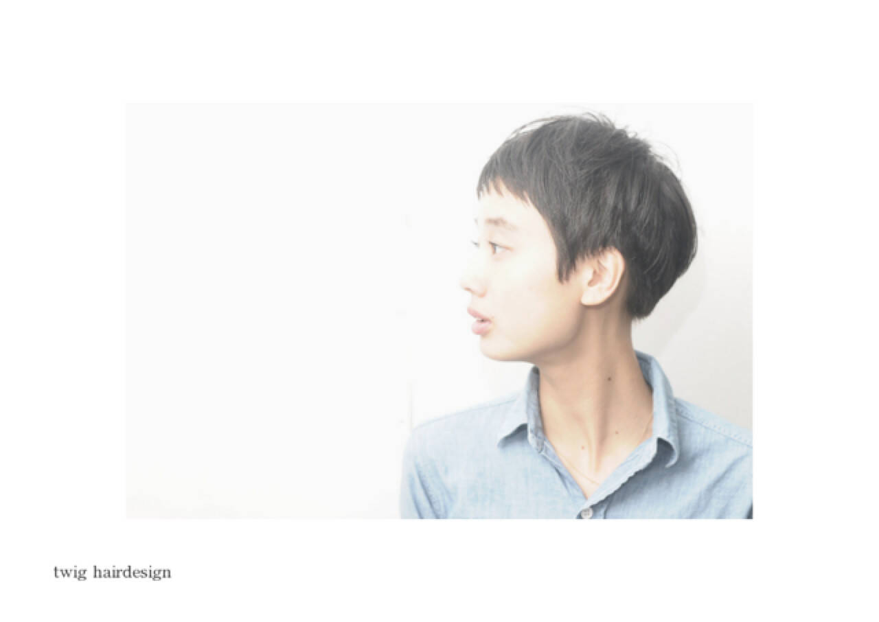 前髪あり 大人かわいい 黒髪 ベリーショートヘアスタイルや髪型の写真・画像