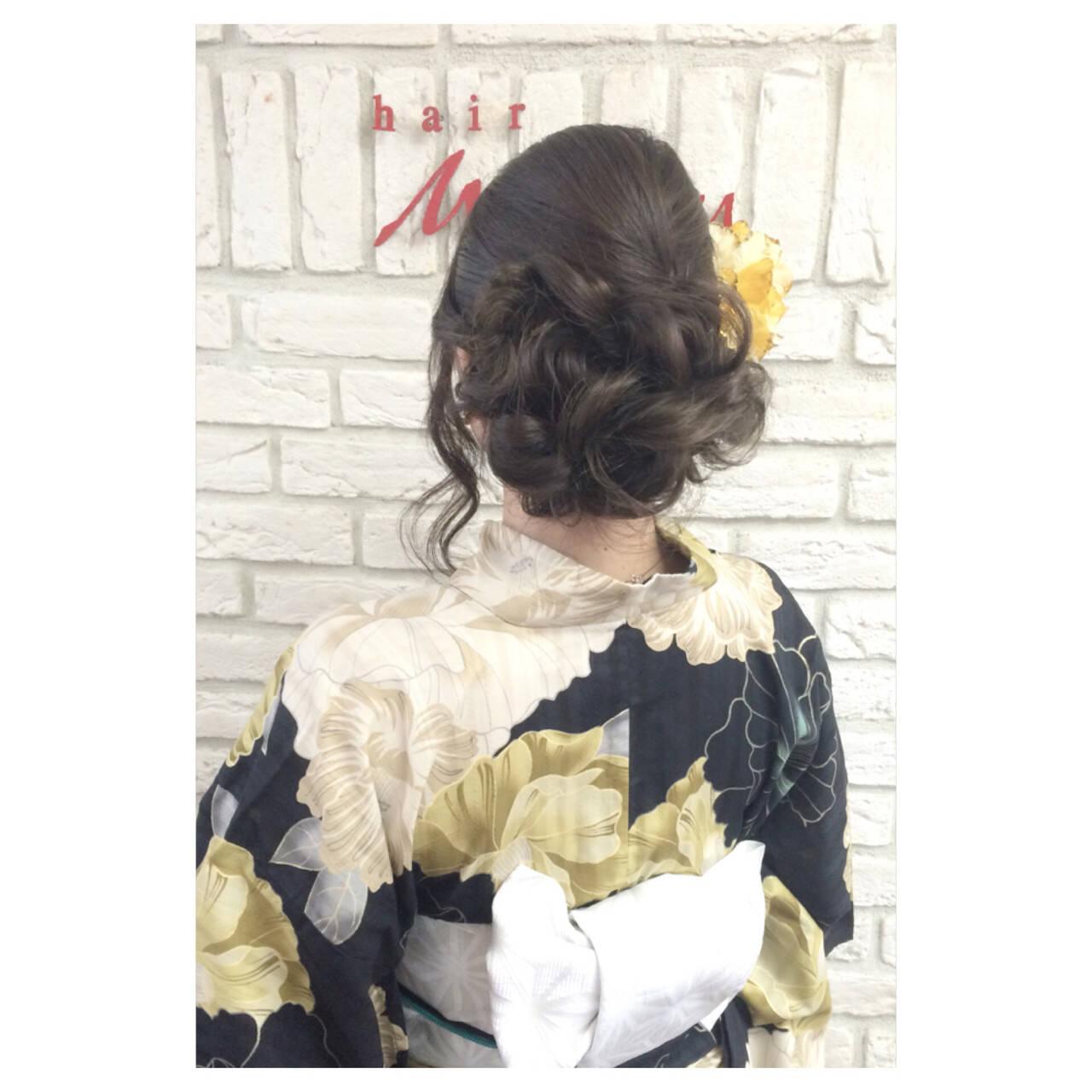 ヘアアレンジ 夏 お祭り ロングヘアスタイルや髪型の写真・画像