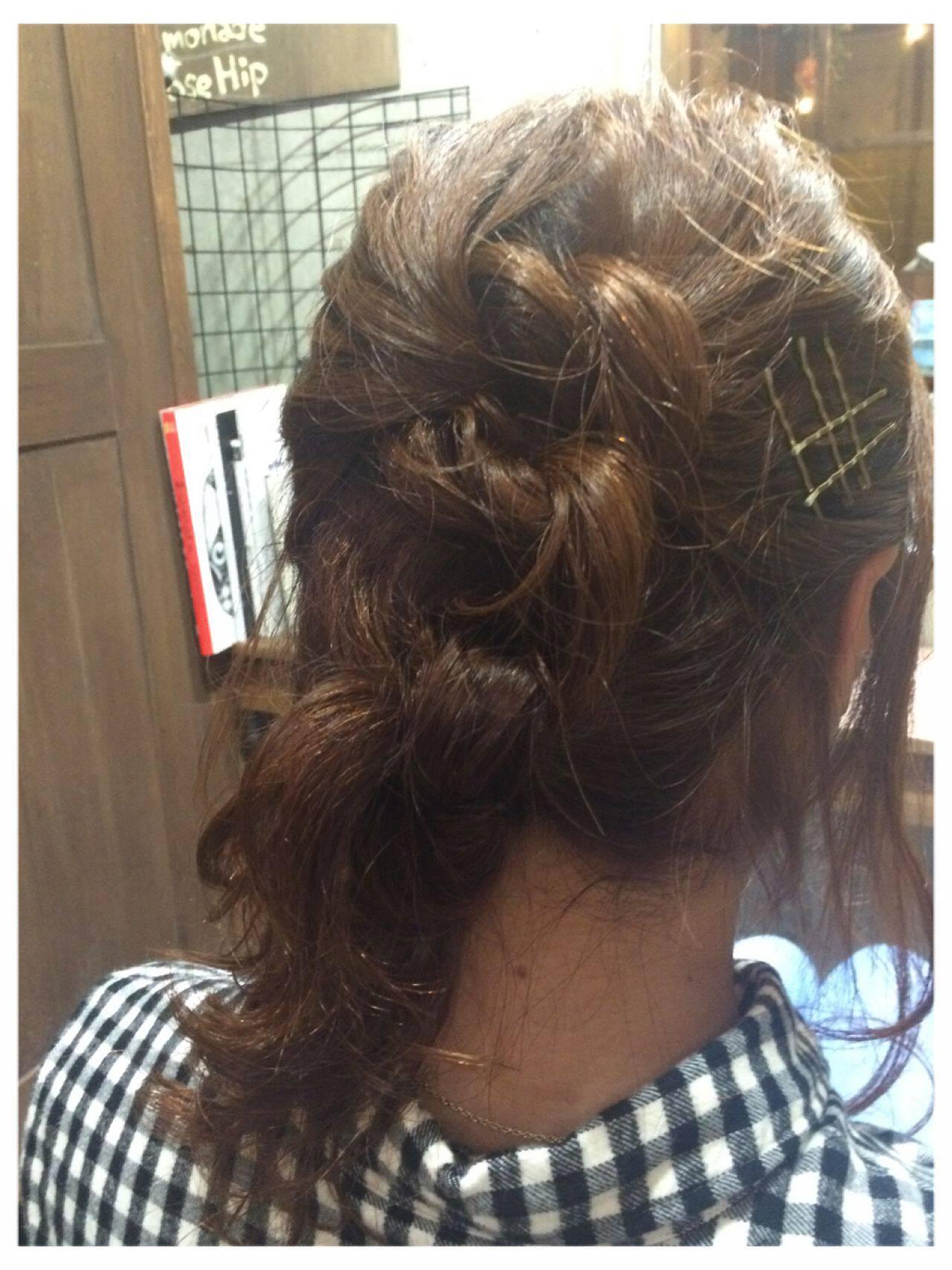 ヘアアクセ ロング 大人かわいい ショートヘアスタイルや髪型の写真・画像