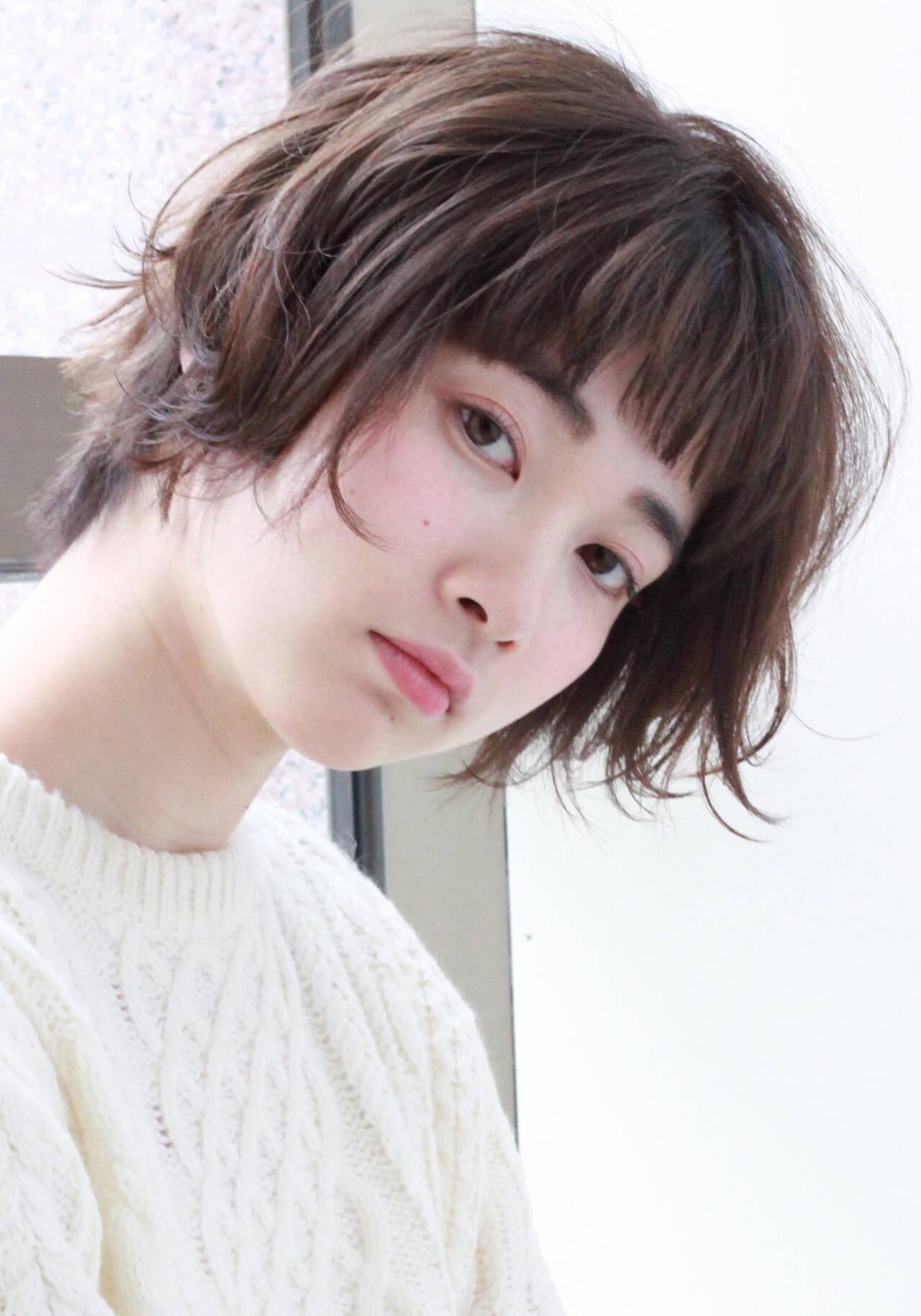 ショート ベリーショート コンサバ ウルフカットヘアスタイルや髪型の写真・画像