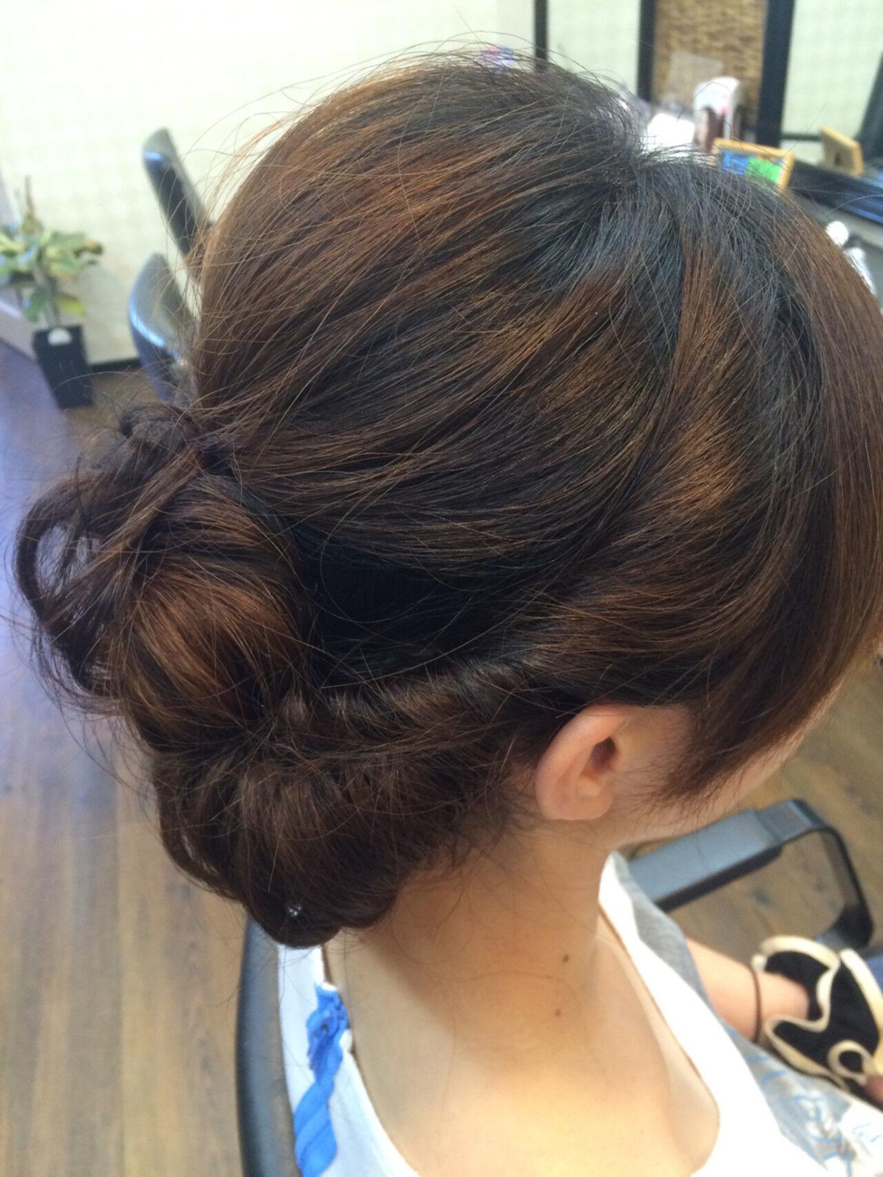ヘアアレンジ ミディアム まとめ髪 結婚式ヘアスタイルや髪型の写真・画像