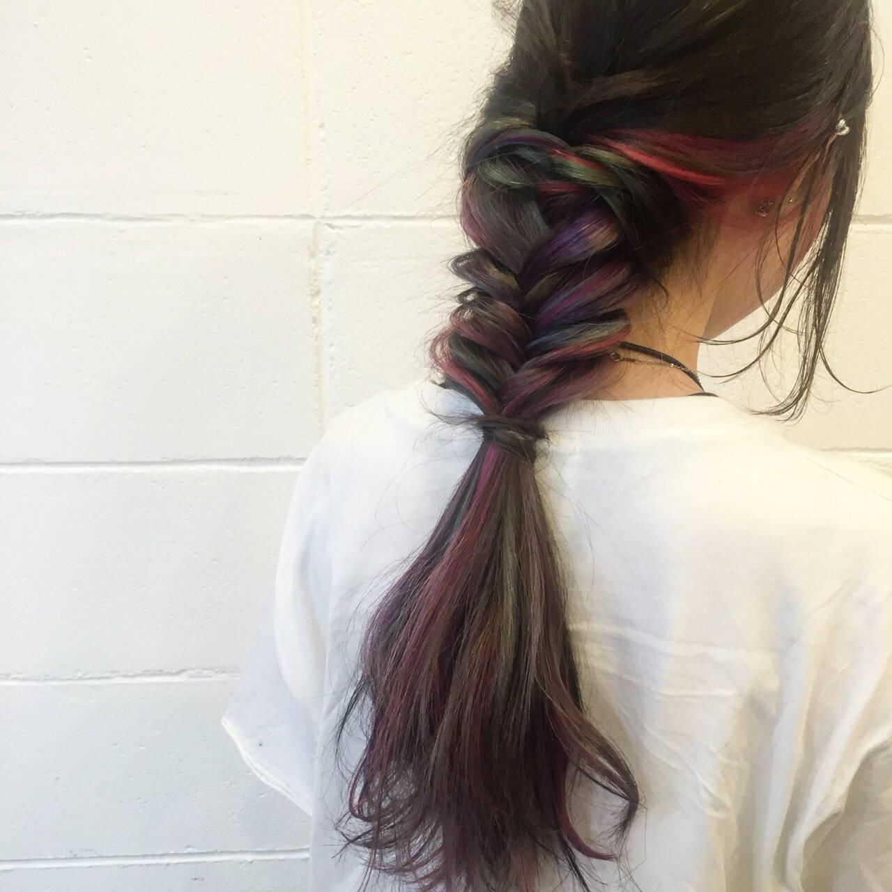 簡単ヘアアレンジ 外国人風 ストリート 夏ヘアスタイルや髪型の写真・画像